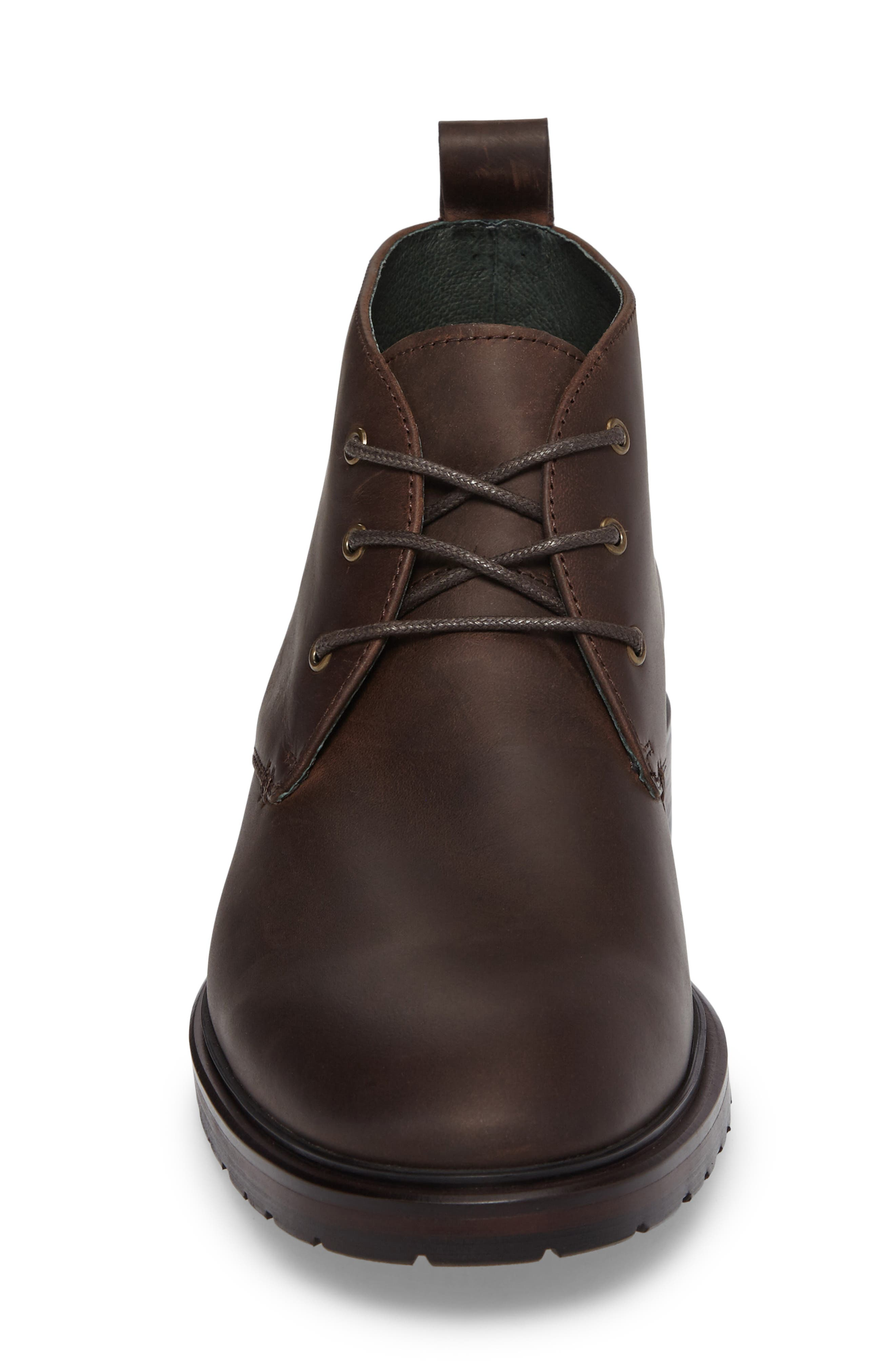 Myles Chukka Boot,                             Alternate thumbnail 4, color,                             Dark Brown Leather