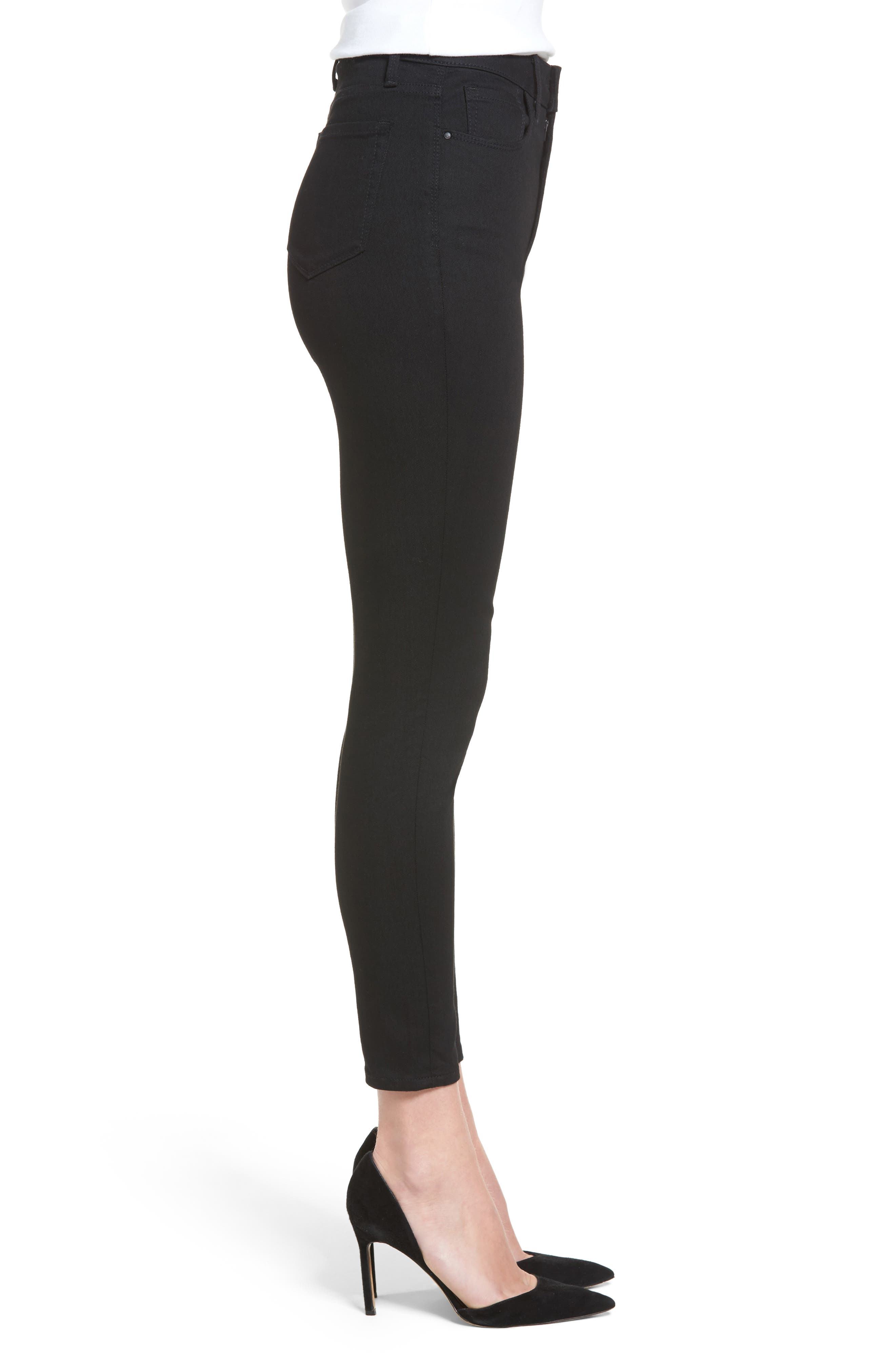 Charity High Waist Crop Skinny Jeans,                             Alternate thumbnail 4, color,                             Midnight Rinse