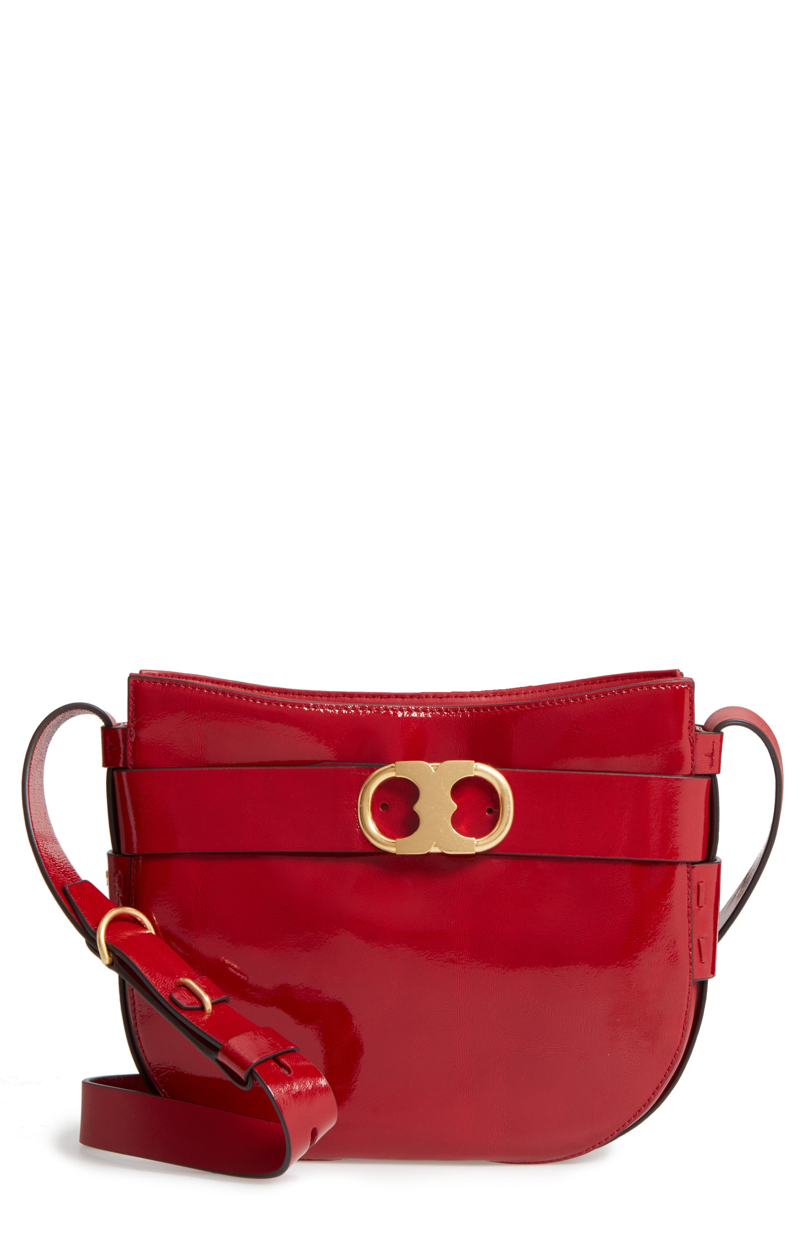 Alternate Image 1 Selected - Tory Burch Gemini Link Patent Leather Crossbody Bag