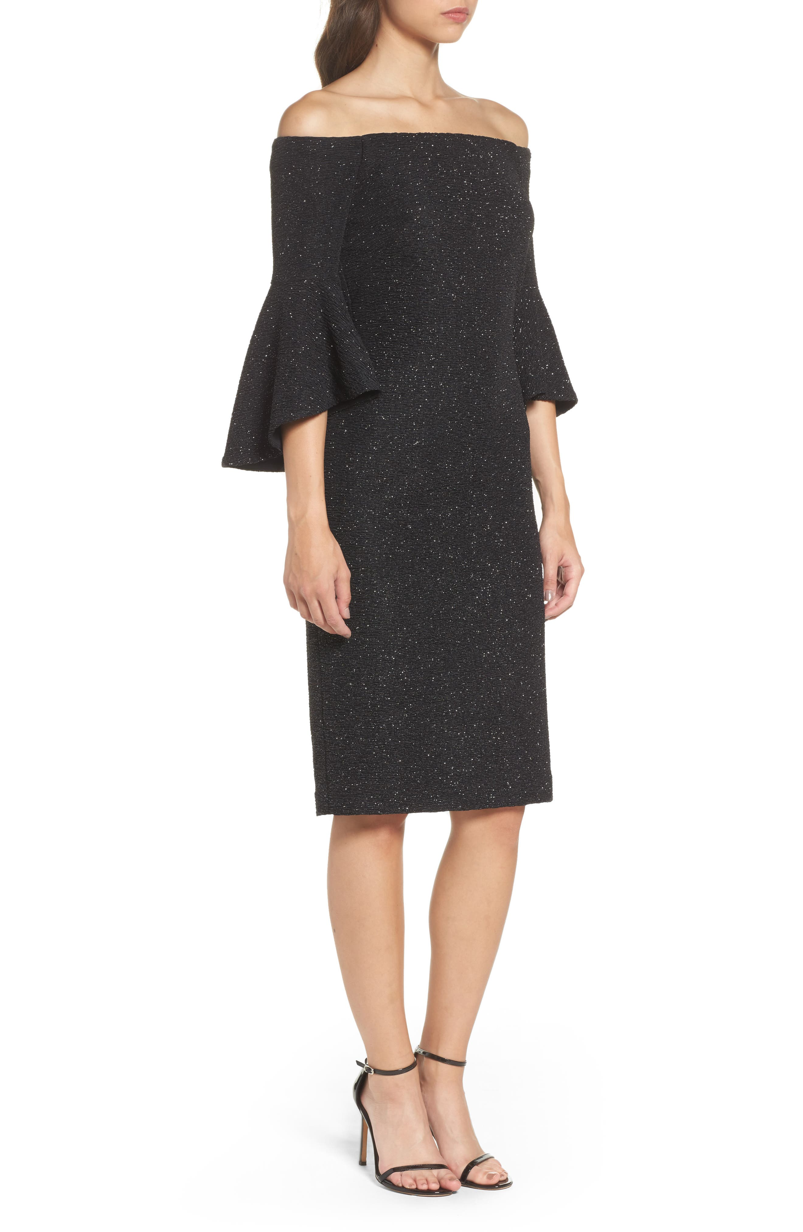 Alternate Image 3  - Eliza J Off the Shoulder Bell Sleeve Sheath Dress