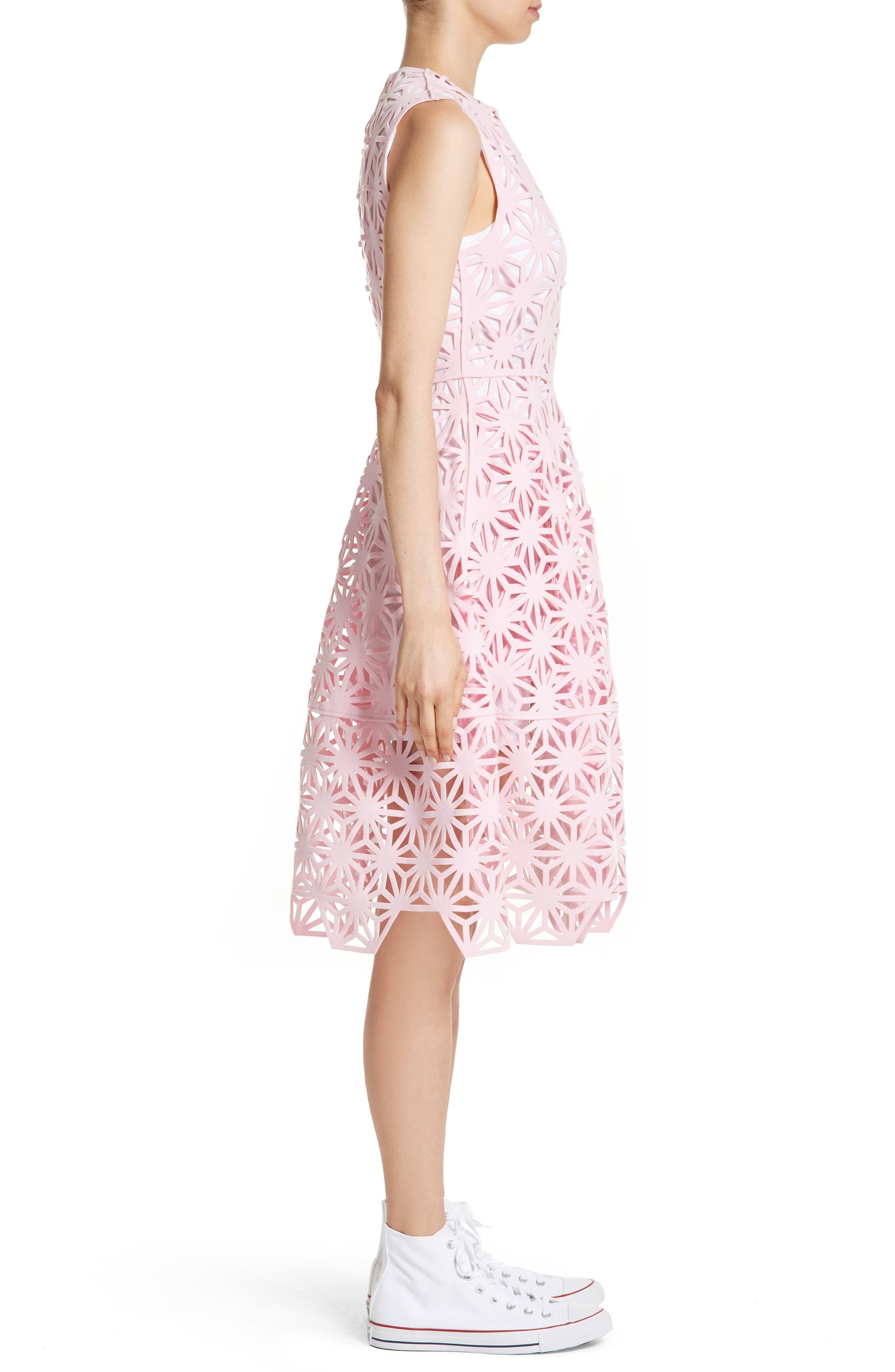 Alternate Image 3  - PASKAL Geo Laser Cut Fit & Flare Dress