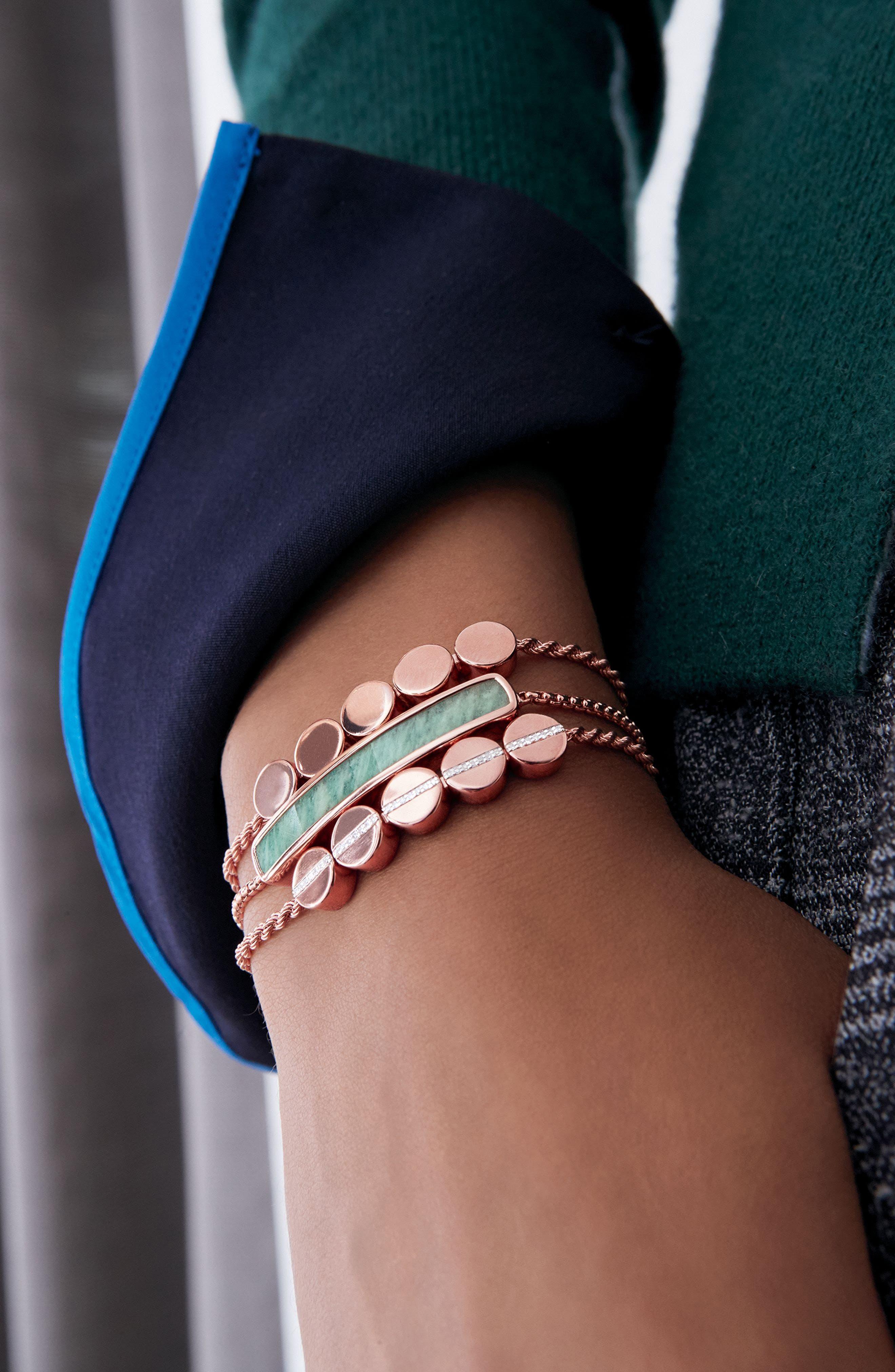 Alternate Image 4  - Monica Vinader Diamond Beaded Friendship Bracelet