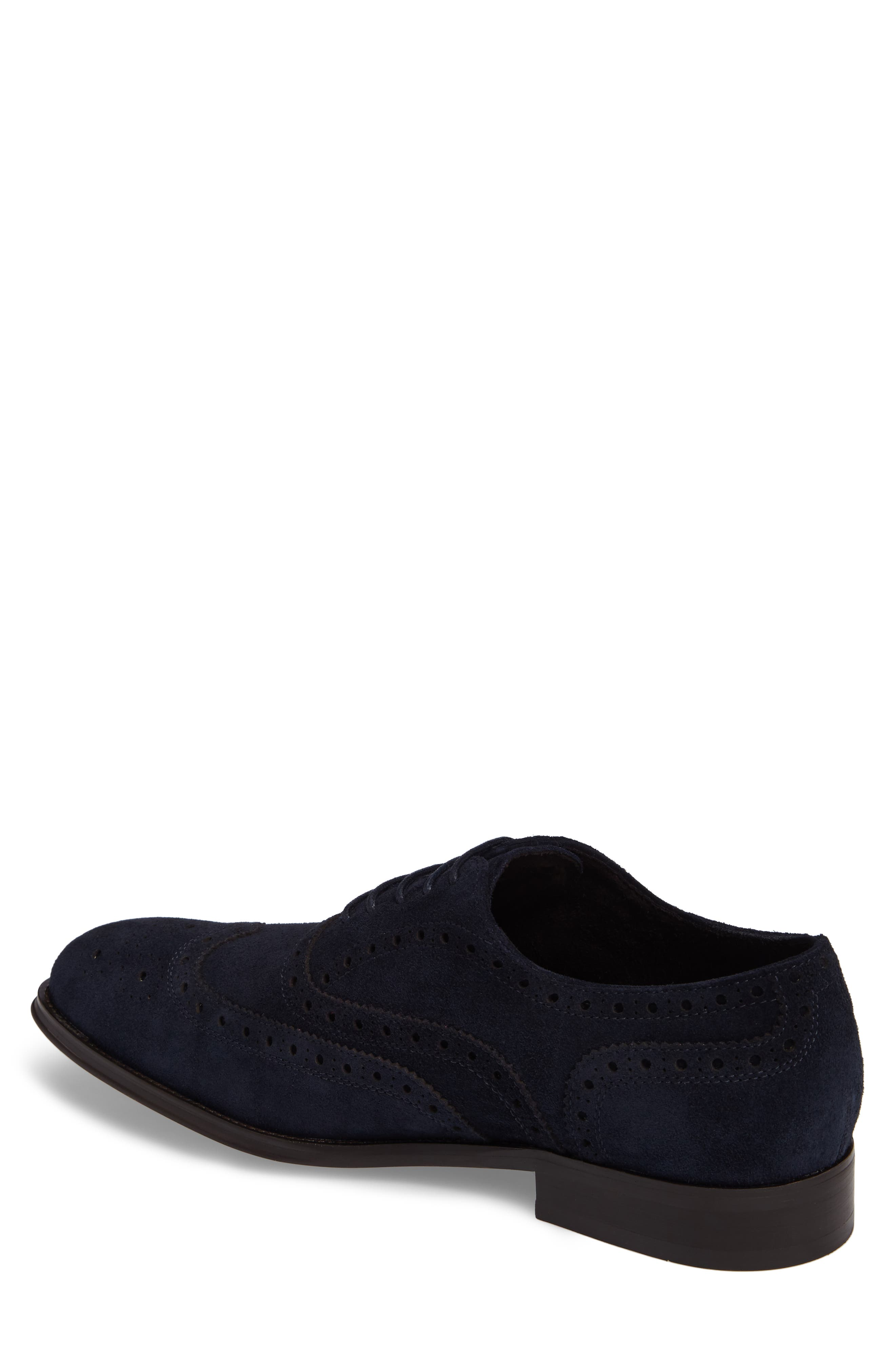 Wingtip,                             Alternate thumbnail 2, color,                             Midnight Navy Leather