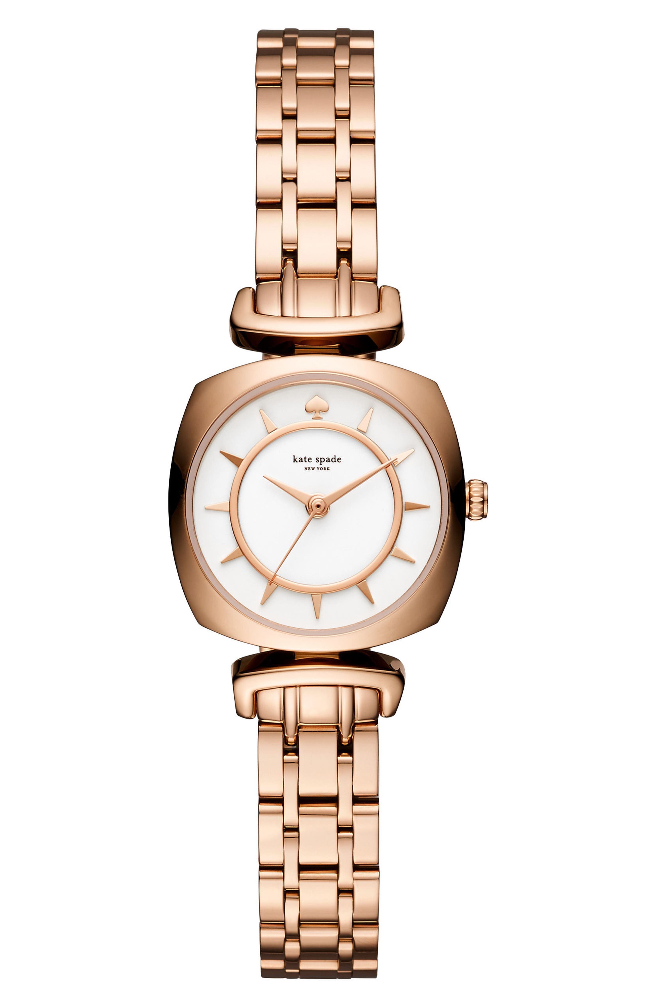 barrow leather strap watch, 24mm,                         Main,                         color, Rose Gold/ White/ Rose Gold