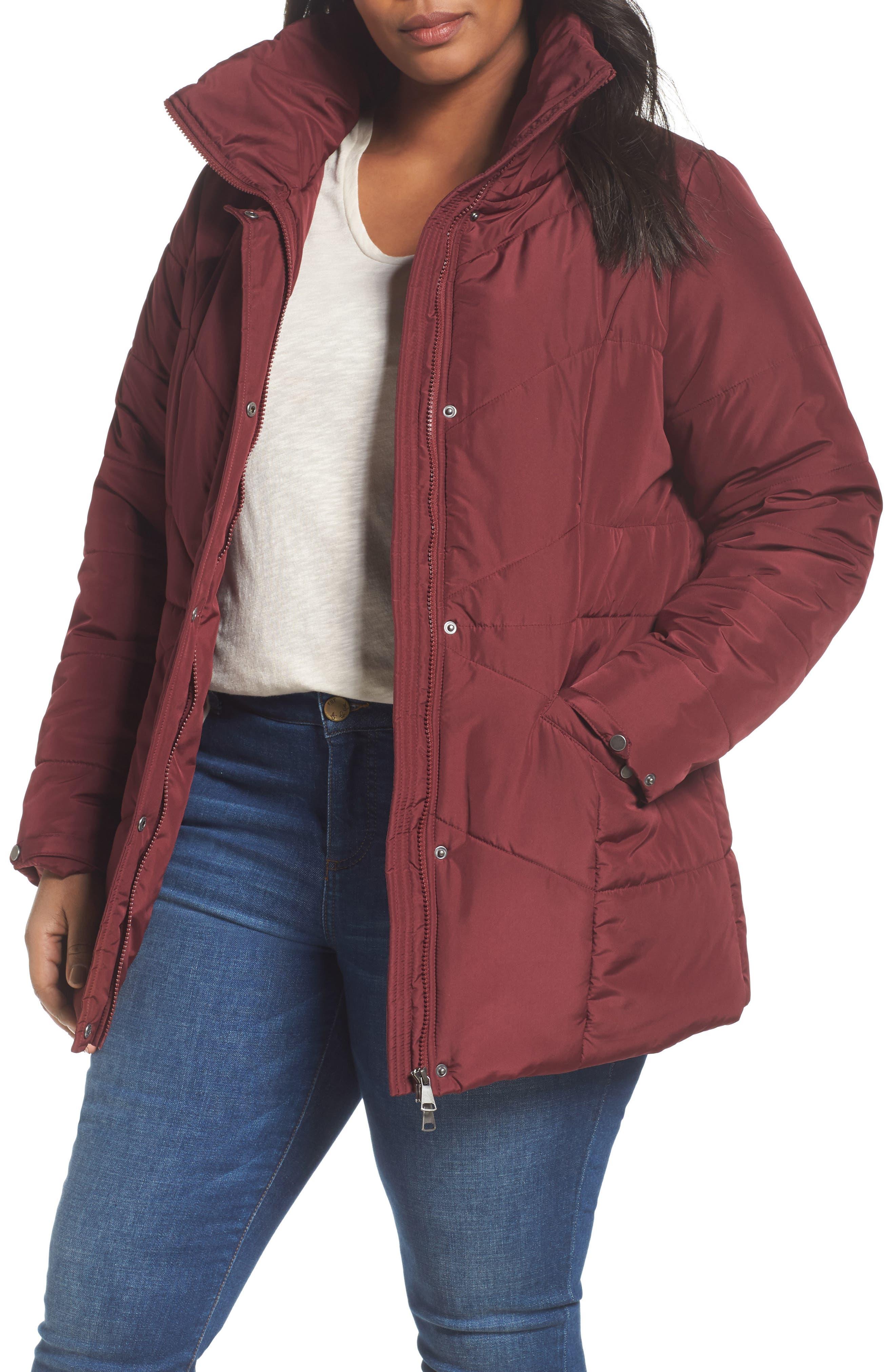 Valsi Puffer Jacket,                         Main,                         color, Zinfandel