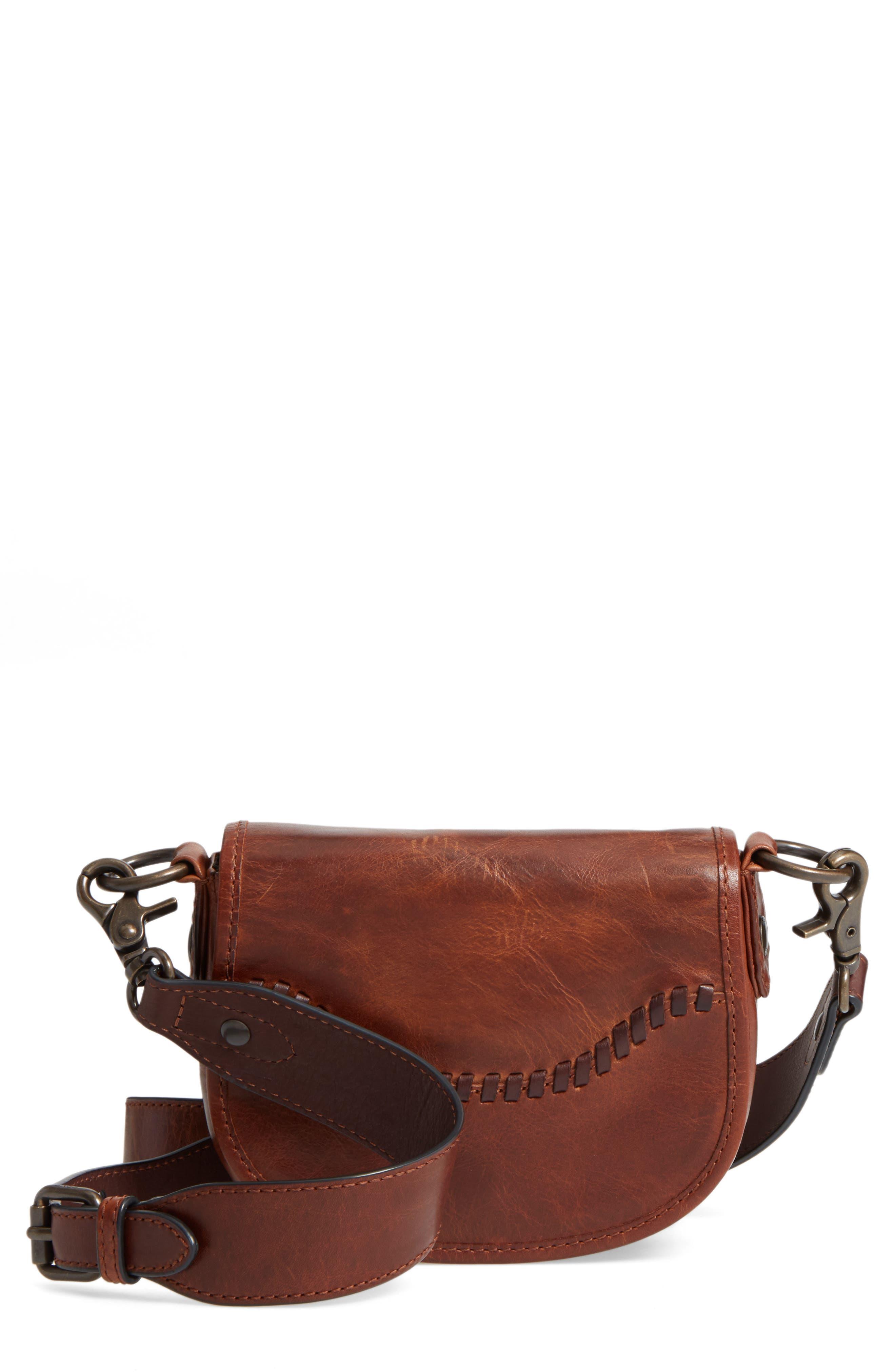 Frye Mini Melissa Whipstitch Leather Saddle Bag