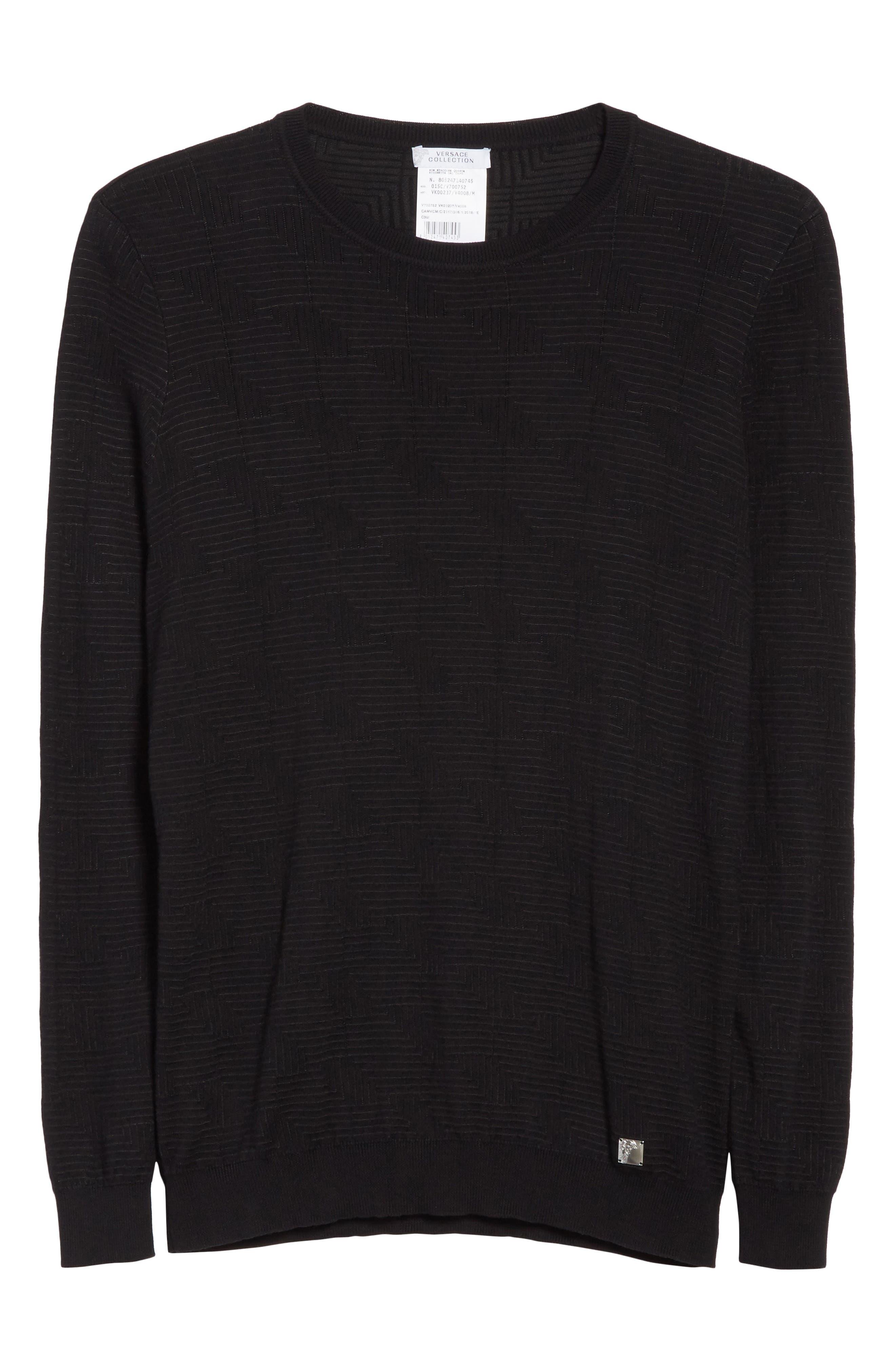 Frame Jacquard Sweater,                             Alternate thumbnail 6, color,                             Black