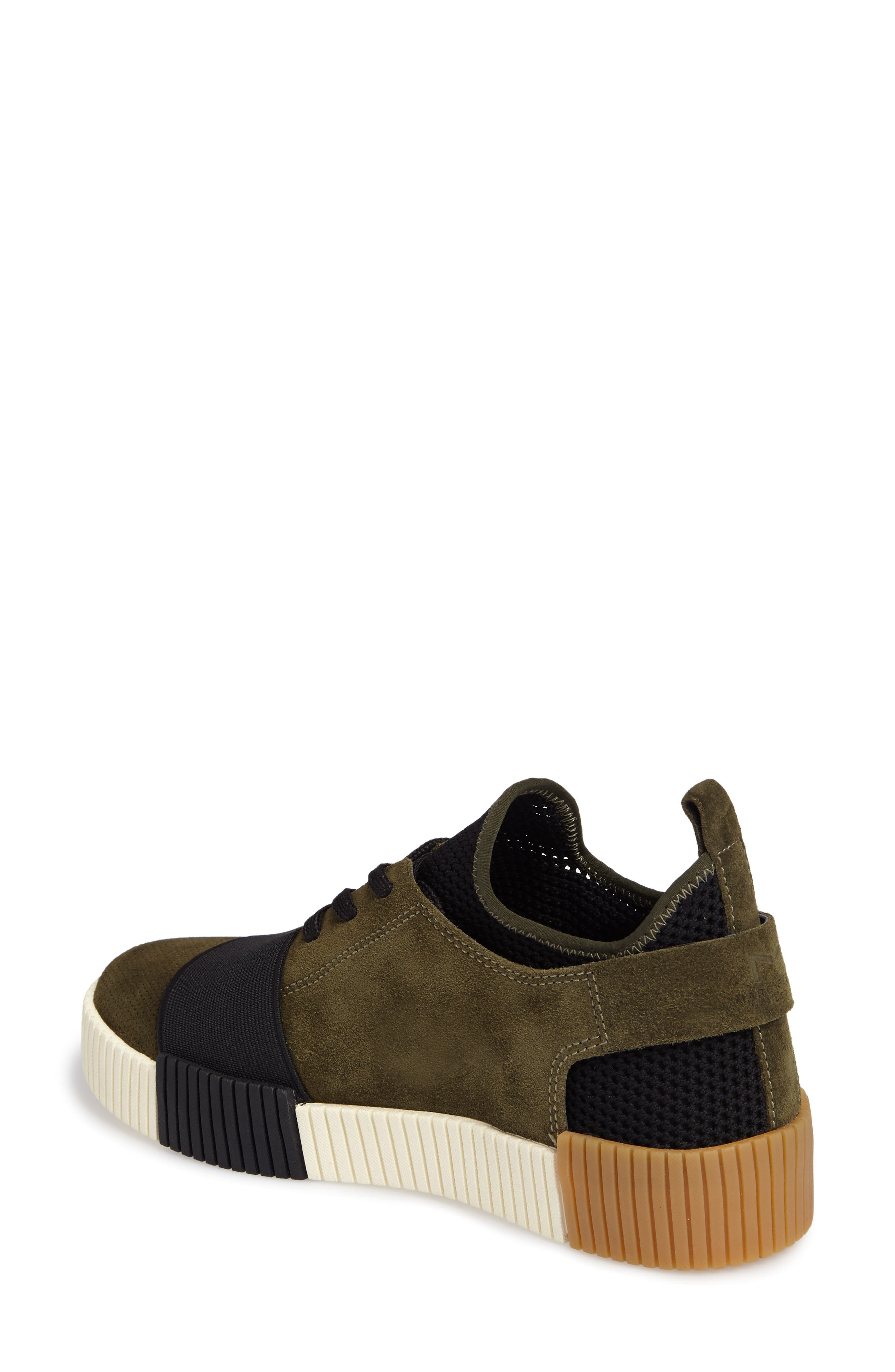 Ryley Platform Sneaker,                             Alternate thumbnail 2, color,                             Green Leather