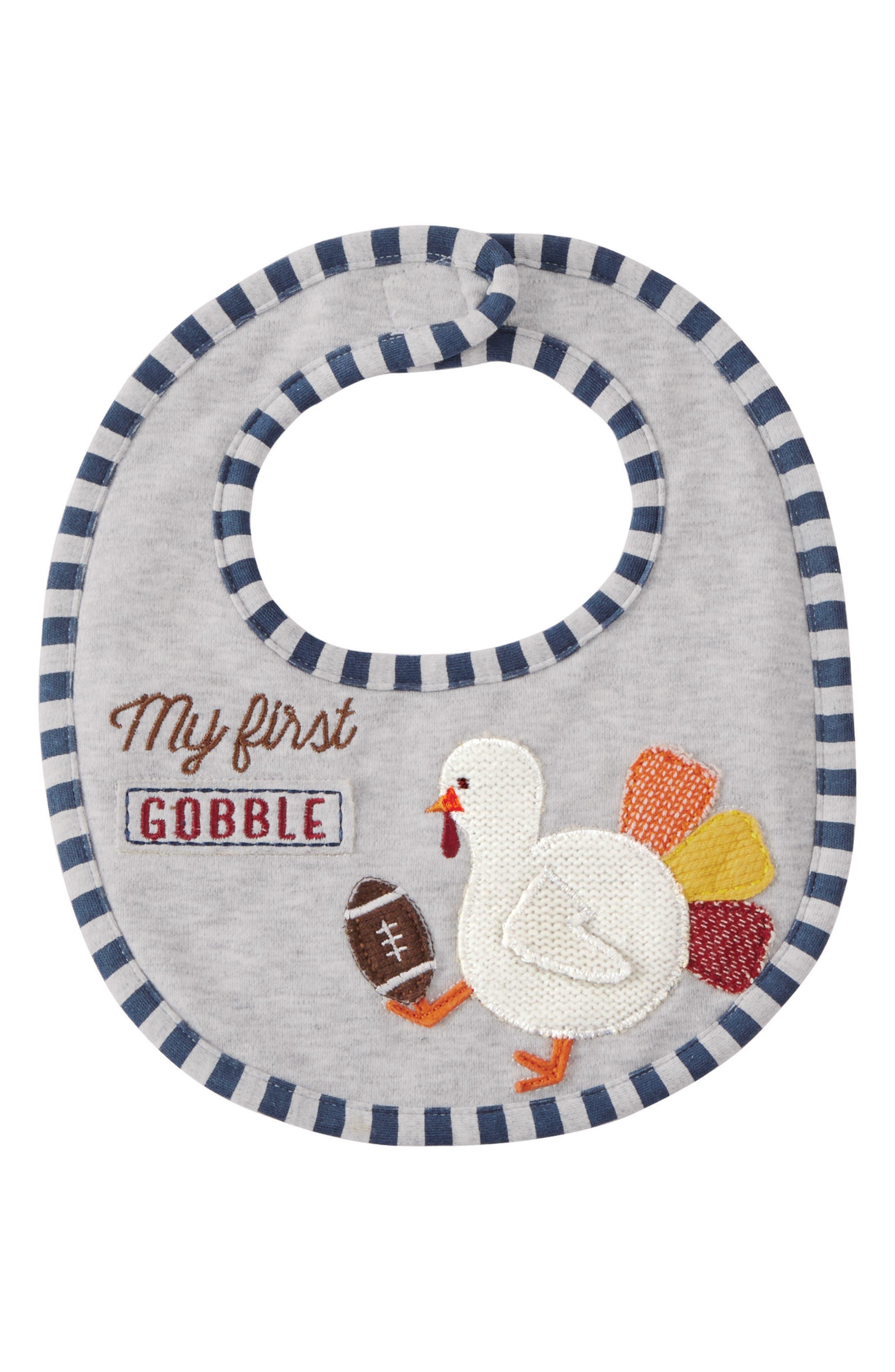 Mud Pie My First Thanksgiving Football Bib (Baby)