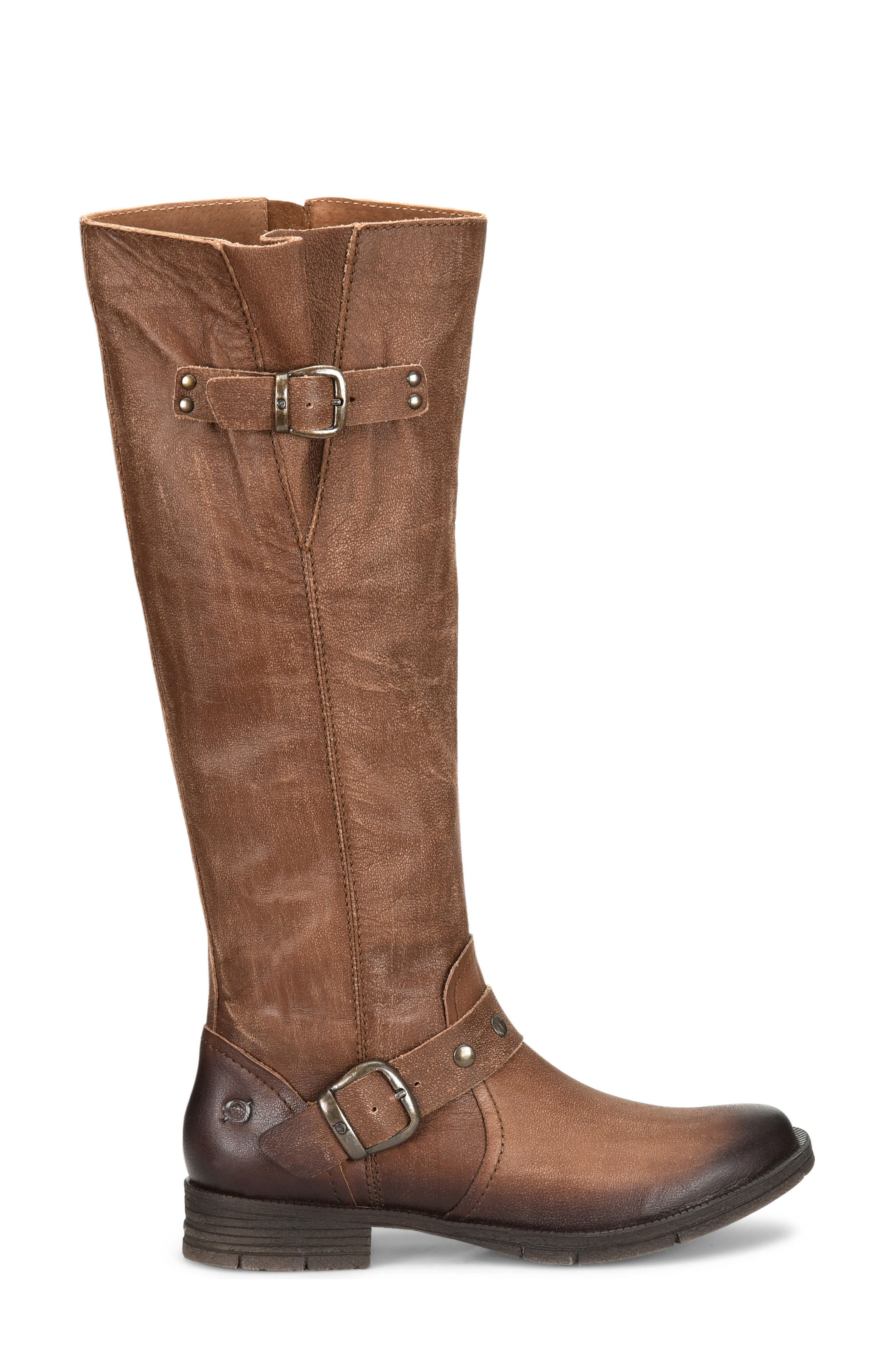Ashland Knee High Boot,                             Alternate thumbnail 3, color,                             Brown Leather