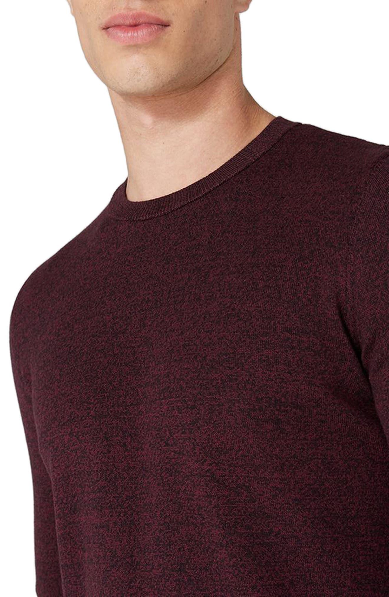 Alternate Image 3  - Topman Side Ribbed Slim Fit Sweater