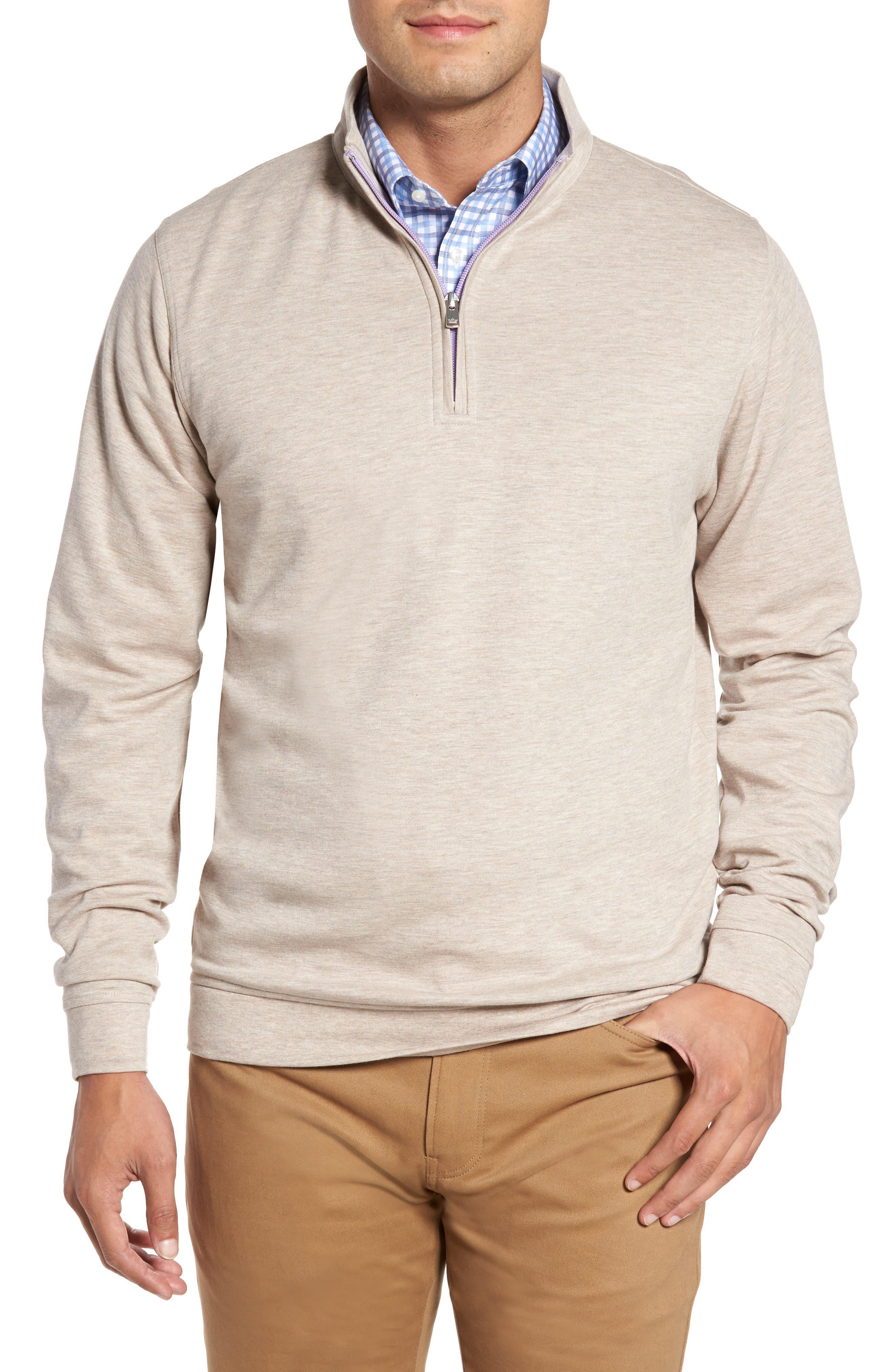 Alternate Image 1 Selected - Peter Millar Crown Comfort Jersey Quarter Zip Pullover