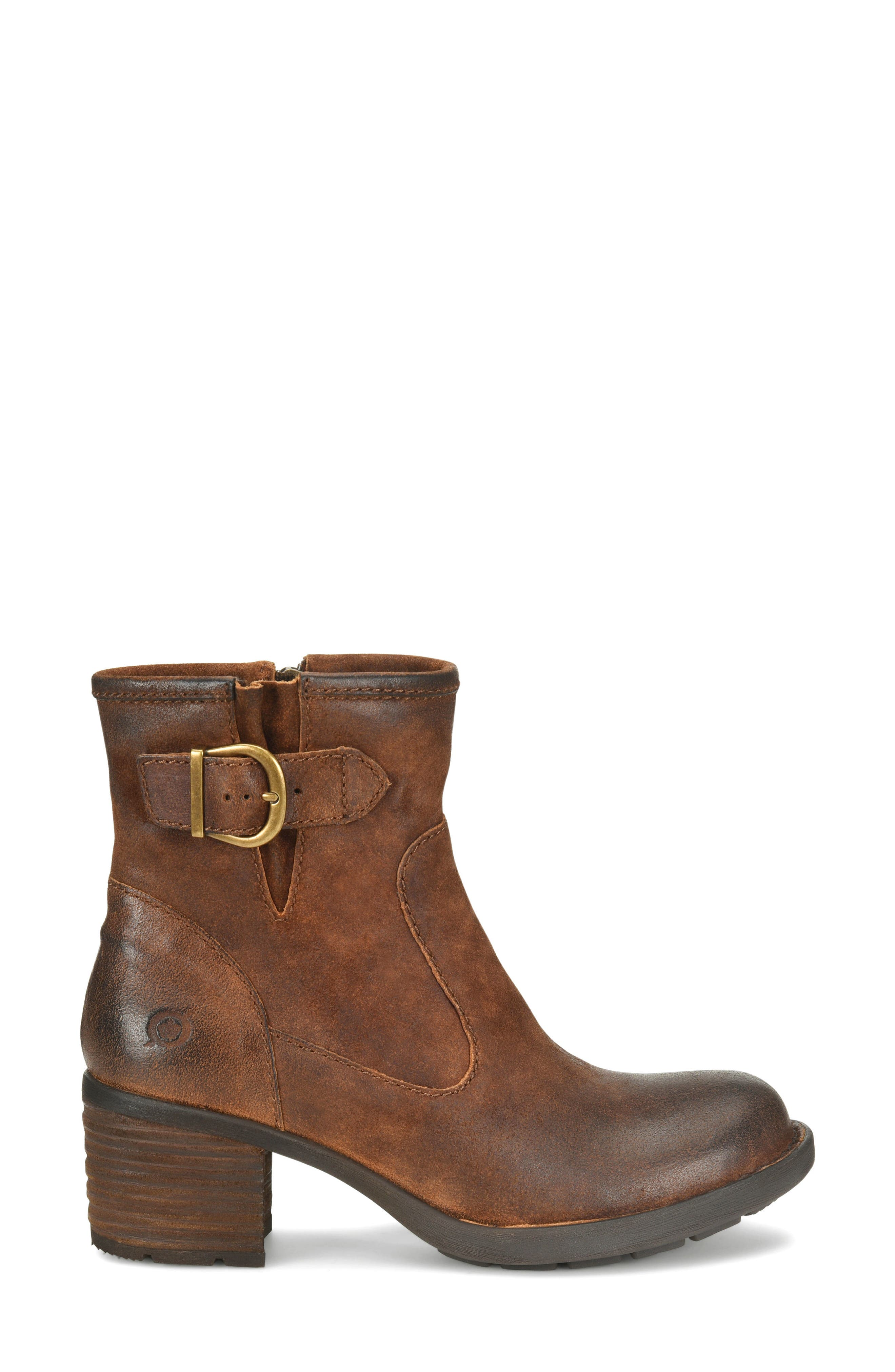 Gunn Engineer Bootie,                             Alternate thumbnail 3, color,                             Rust Distressed Leather