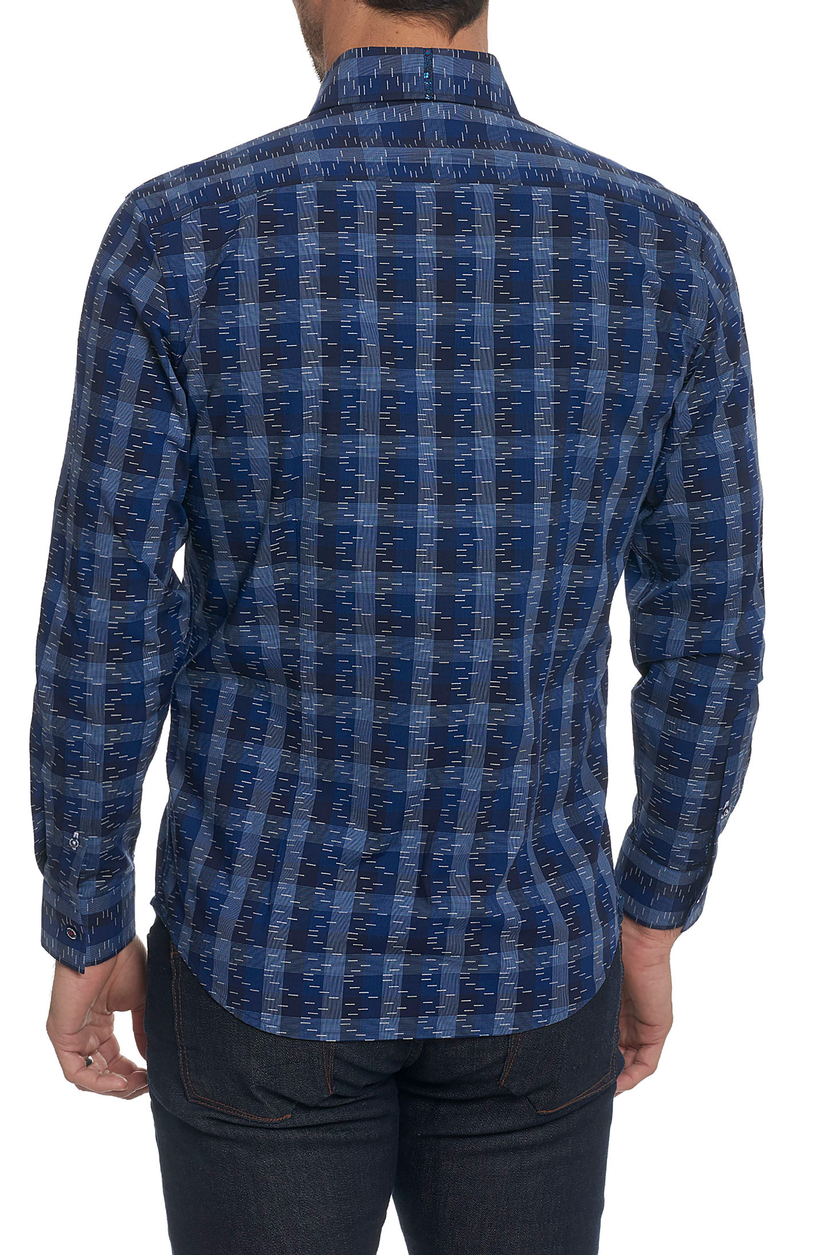 Tailored Fit Print Sport Shirt,                             Alternate thumbnail 2, color,                             Navy