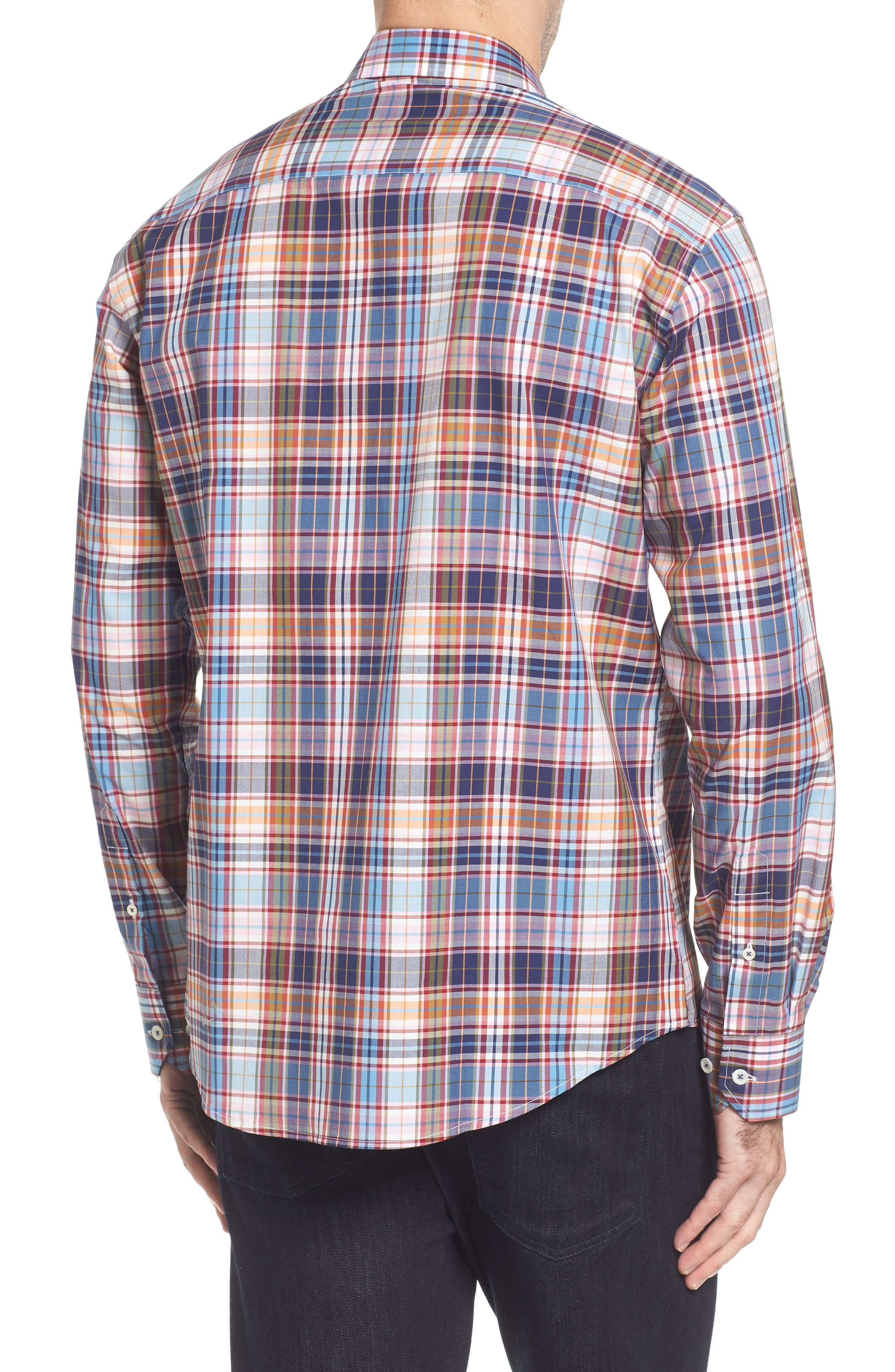Alternate Image 2  - Bugatchi Classic Fit Plaid Sport Shirt