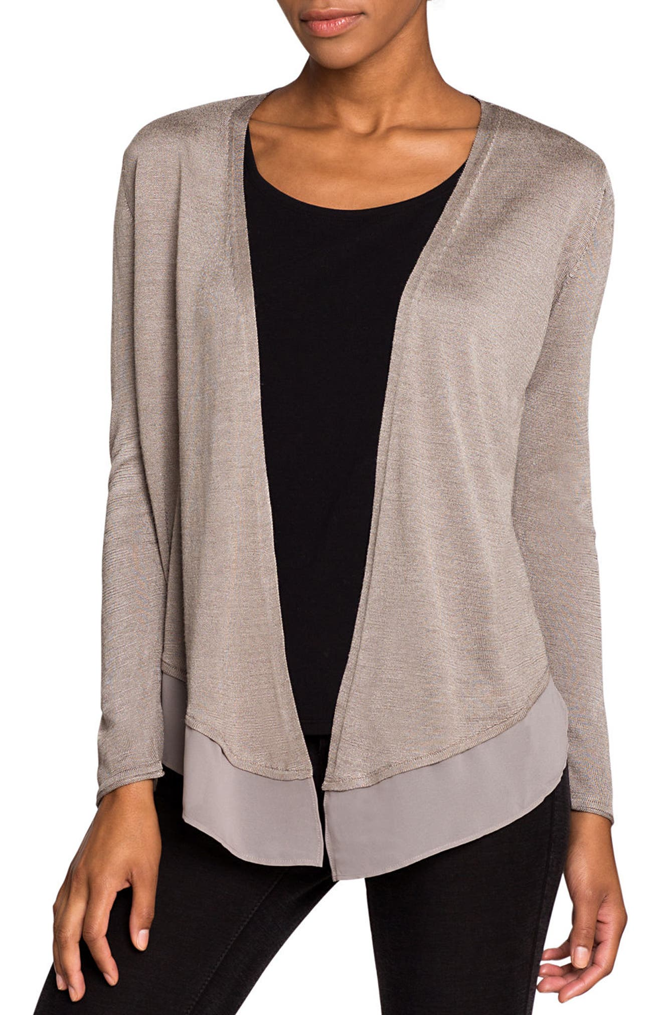 NIC+ZOE Paired Up Silk Blend Cardigan (Regular & Petite)