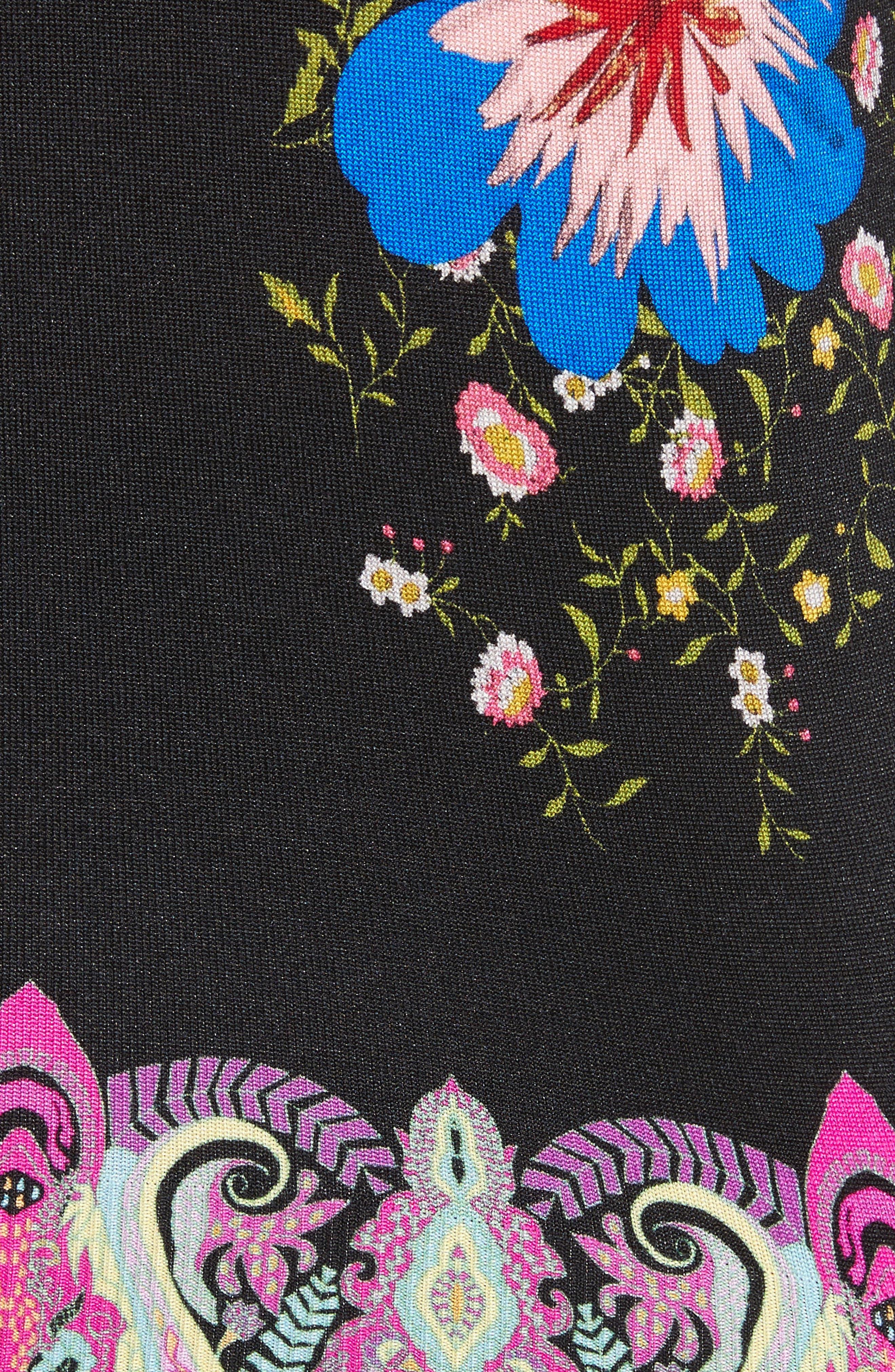 Alternate Image 4  - Etro Floral Paisley Stretch Silk Sweater
