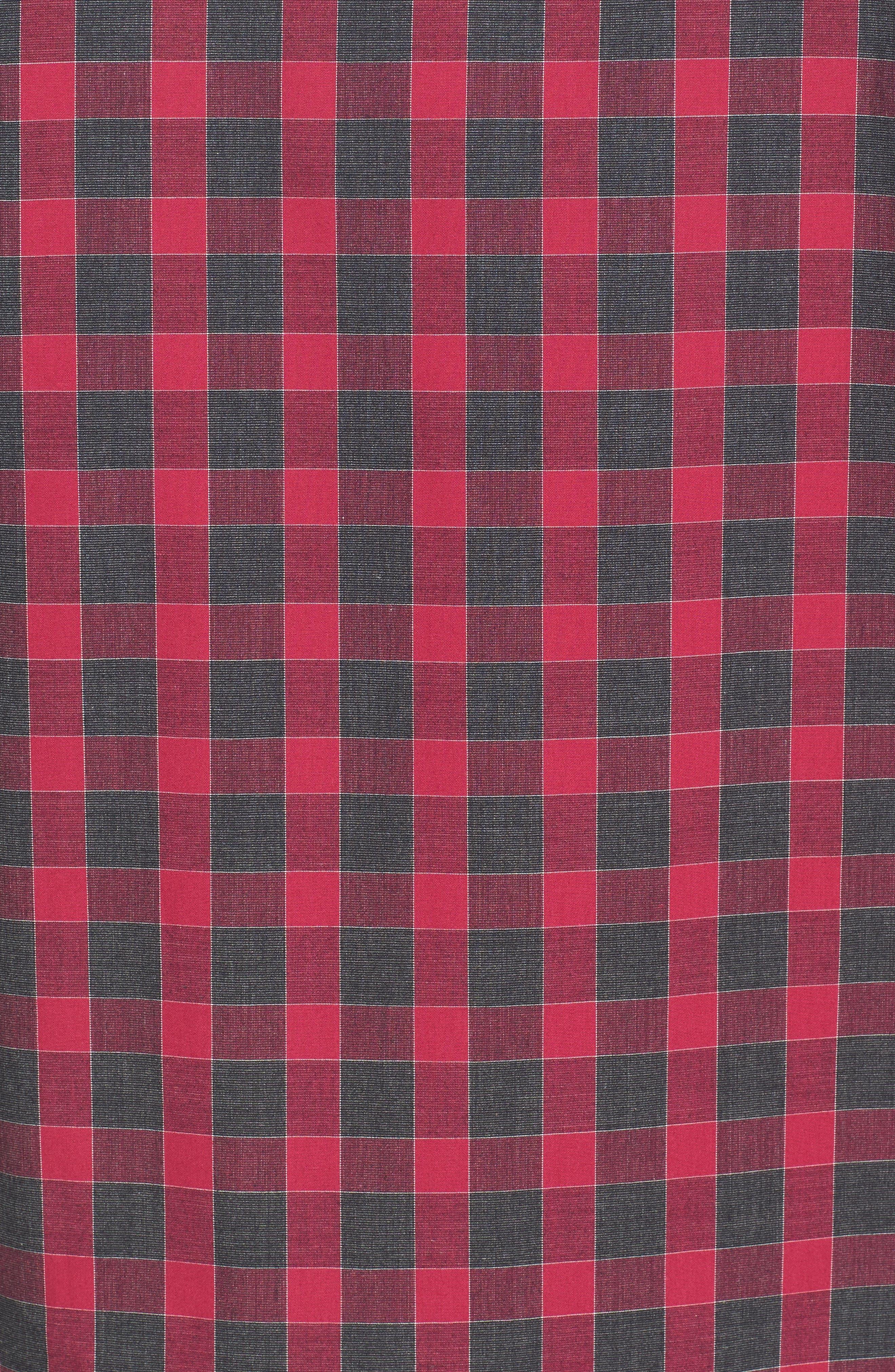 Slim Fit Check Sport Shirt,                             Alternate thumbnail 5, color,                             Fuchsia