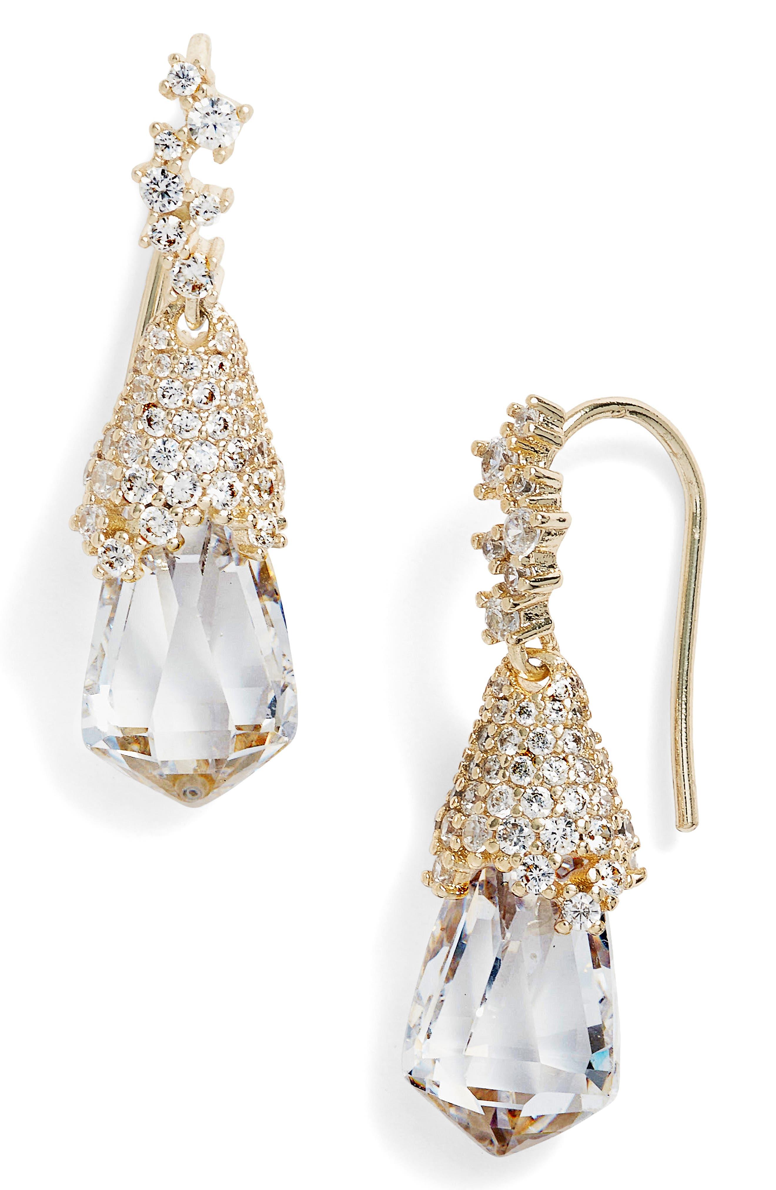 Becky Teardrop Earrings,                         Main,                         color, Gold