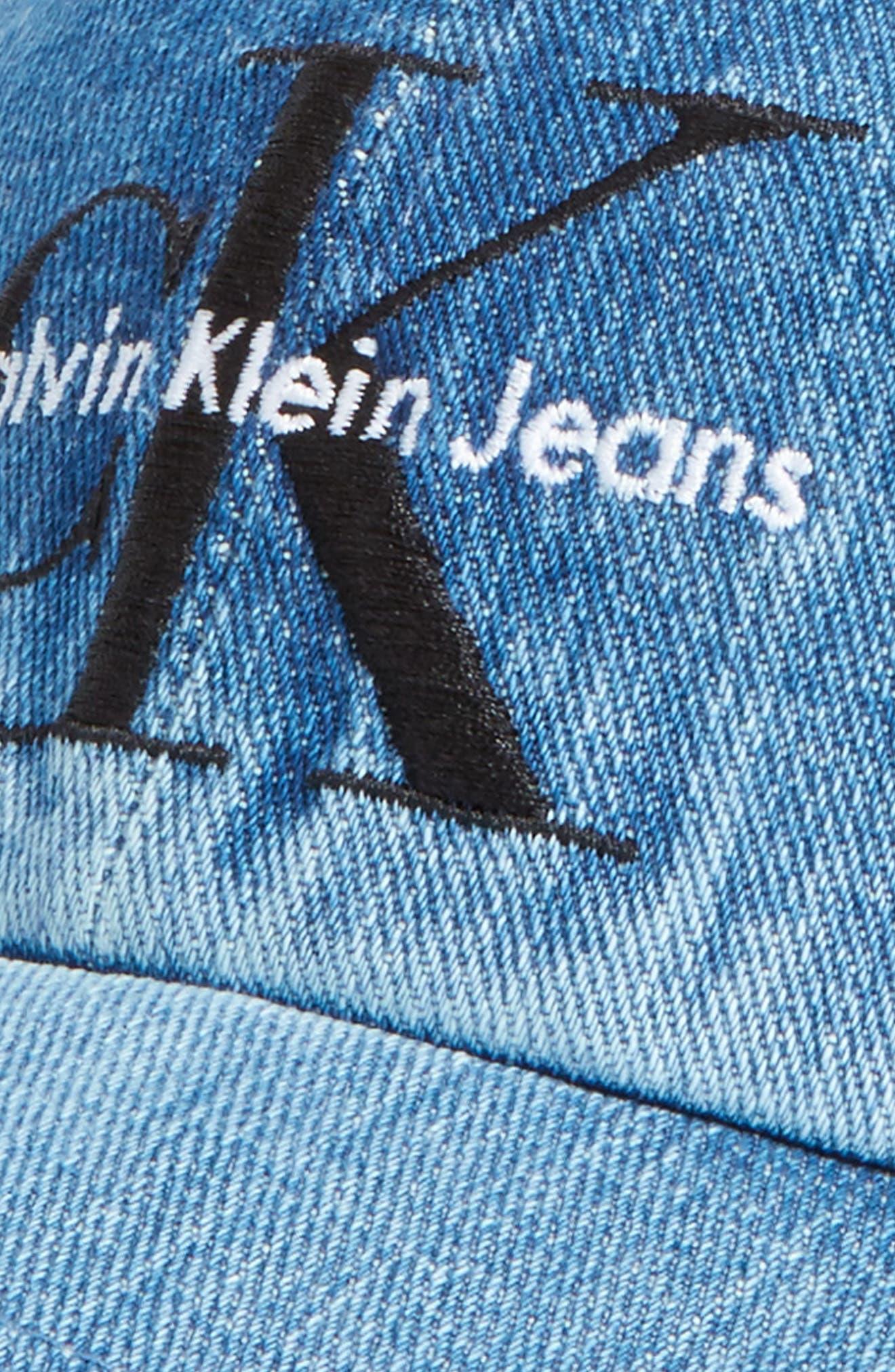 Calvin Klein CK Jeans Ball Cap,                             Alternate thumbnail 3, color,                             Stone Wash