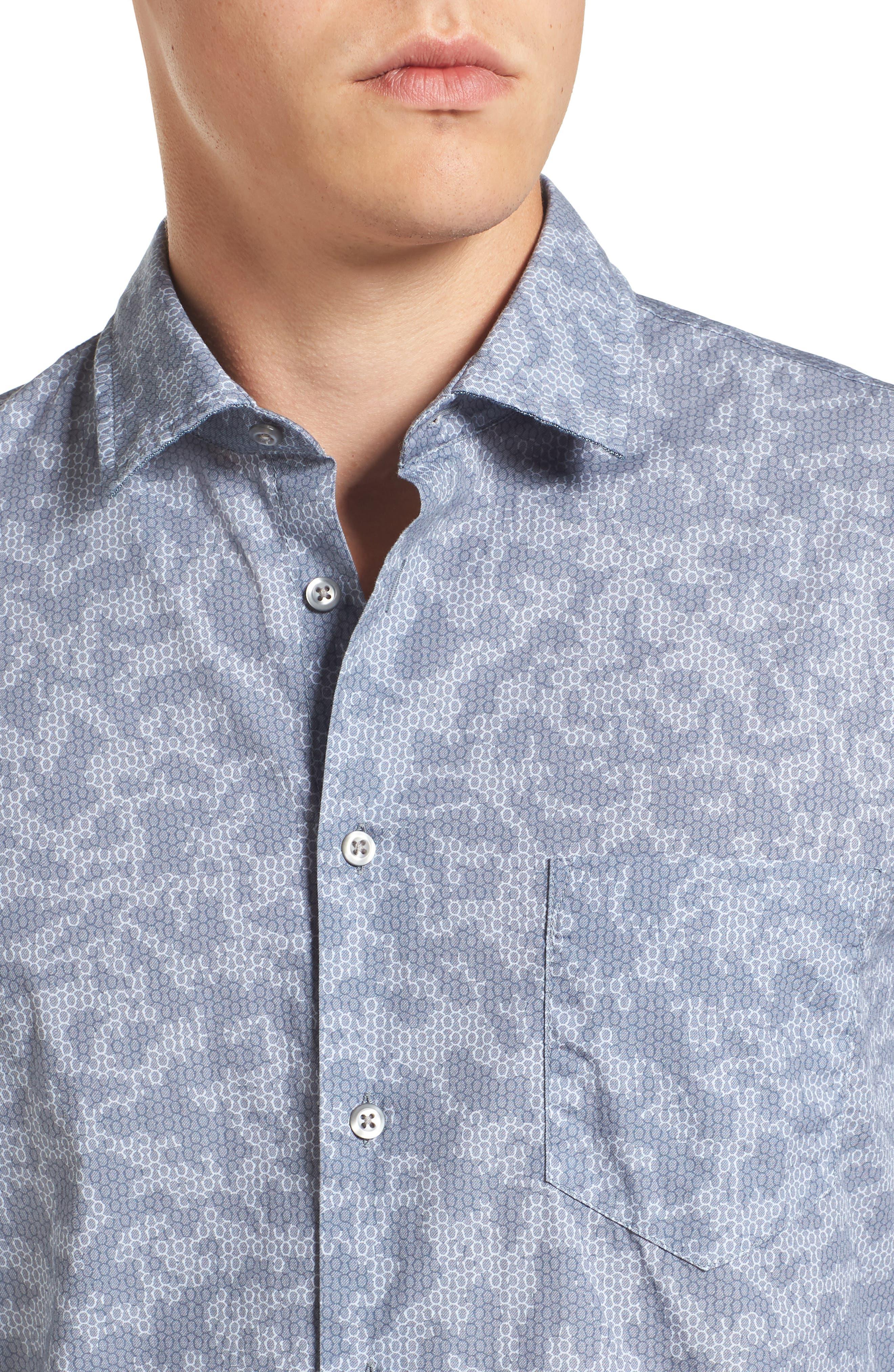 Alternate Image 4  - BOSS Orange Print Woven Shirt