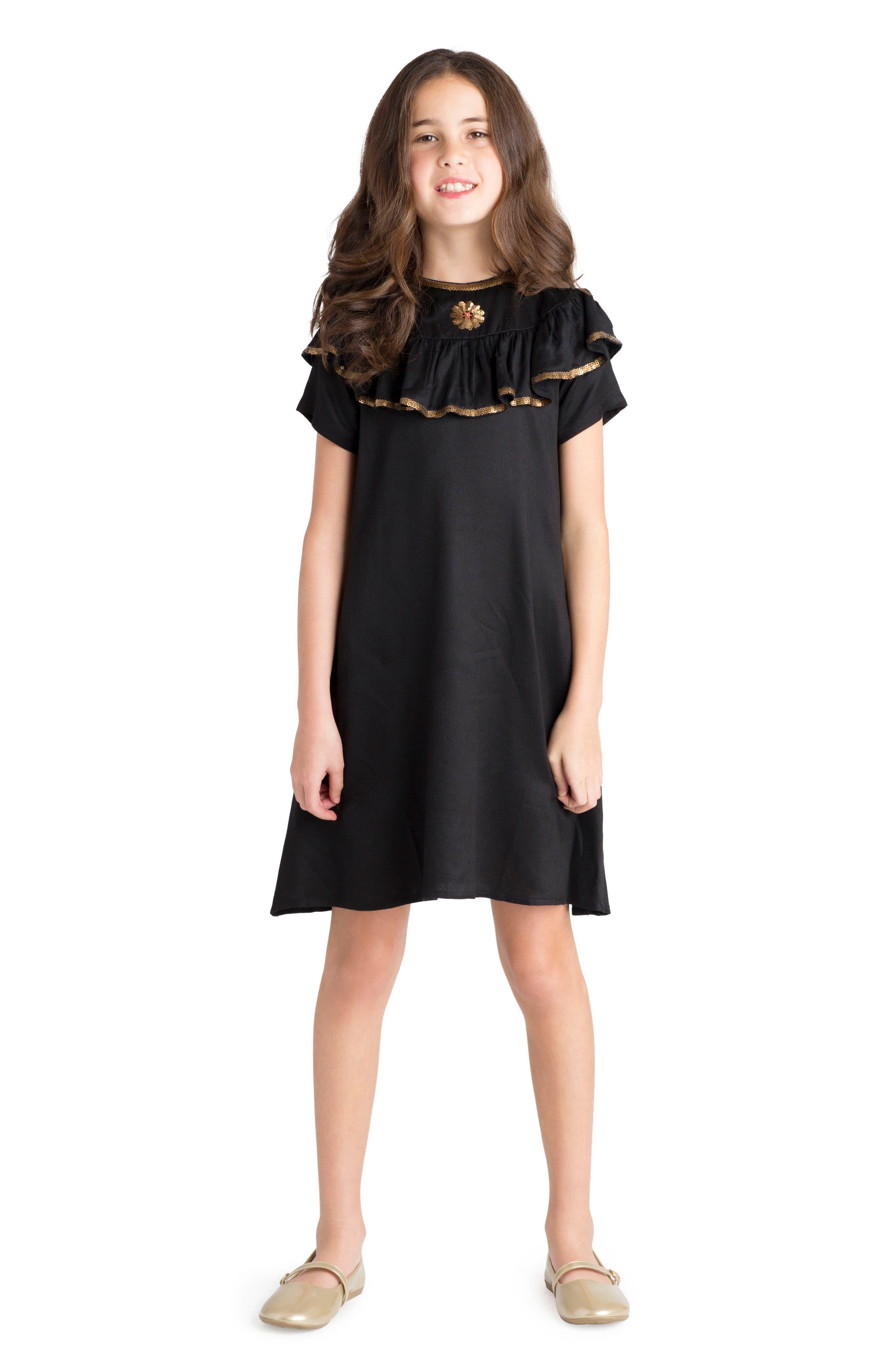Enchanted Dress,                             Alternate thumbnail 2, color,                             Black