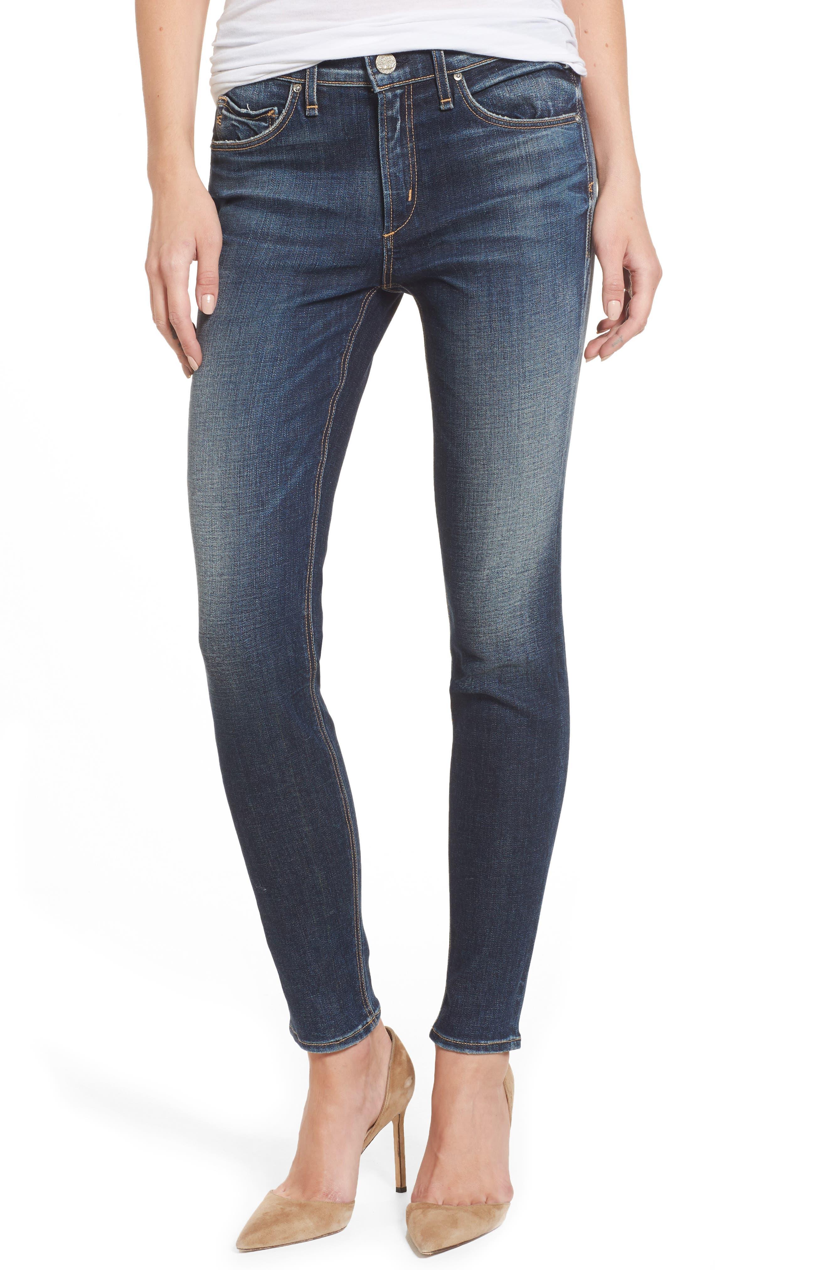 Newton High Waist Skinny Jeans,                         Main,                         color, One Thousand Suns