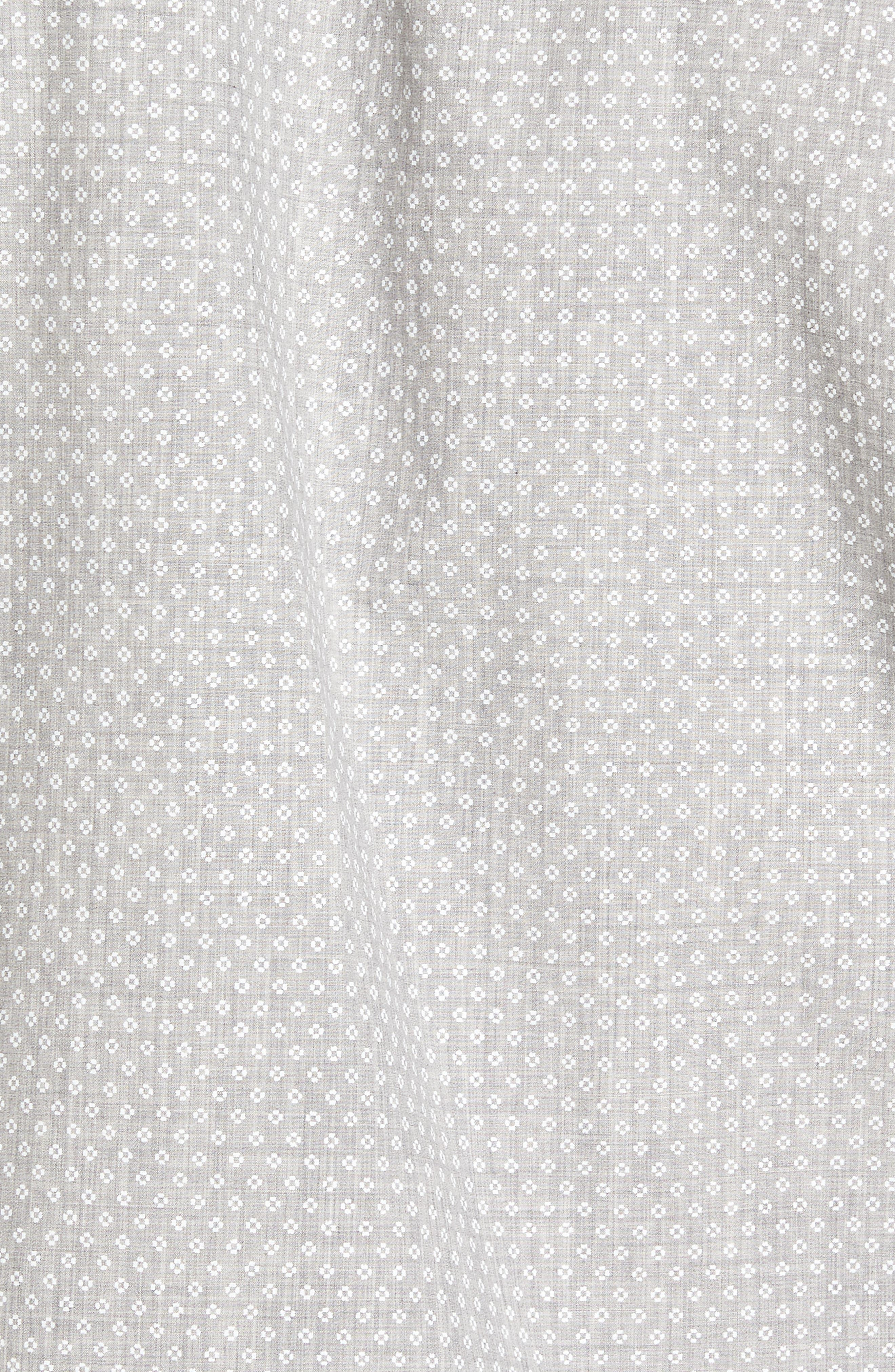 Ridley Slim Fit Micro Diamond Sport Shirt,                             Alternate thumbnail 6, color,                             Grey