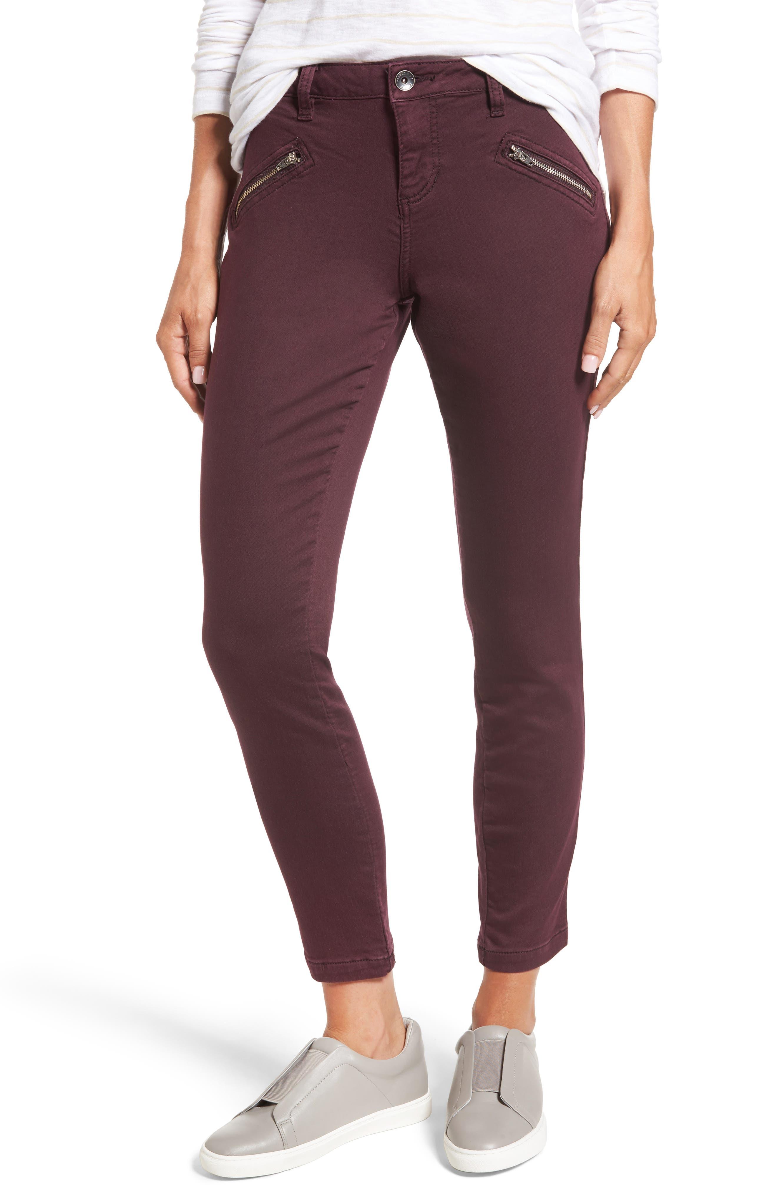 Alternate Image 1 Selected - Jag Jeans Ryan Knit Skinny Jeans (Plum Noir)