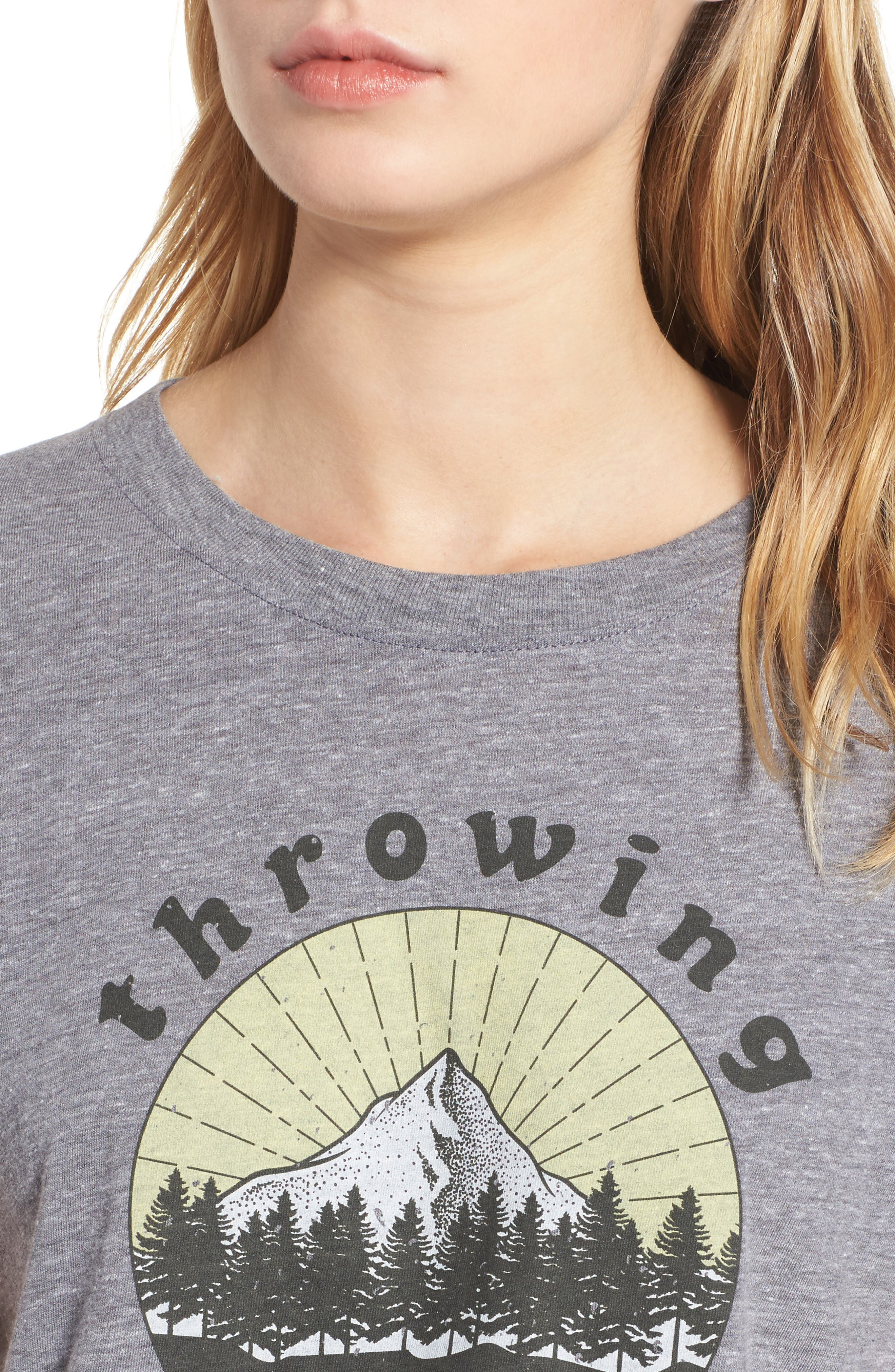 Throwing Shade Graphic Tee,                             Alternate thumbnail 4, color,                             Heather Grey