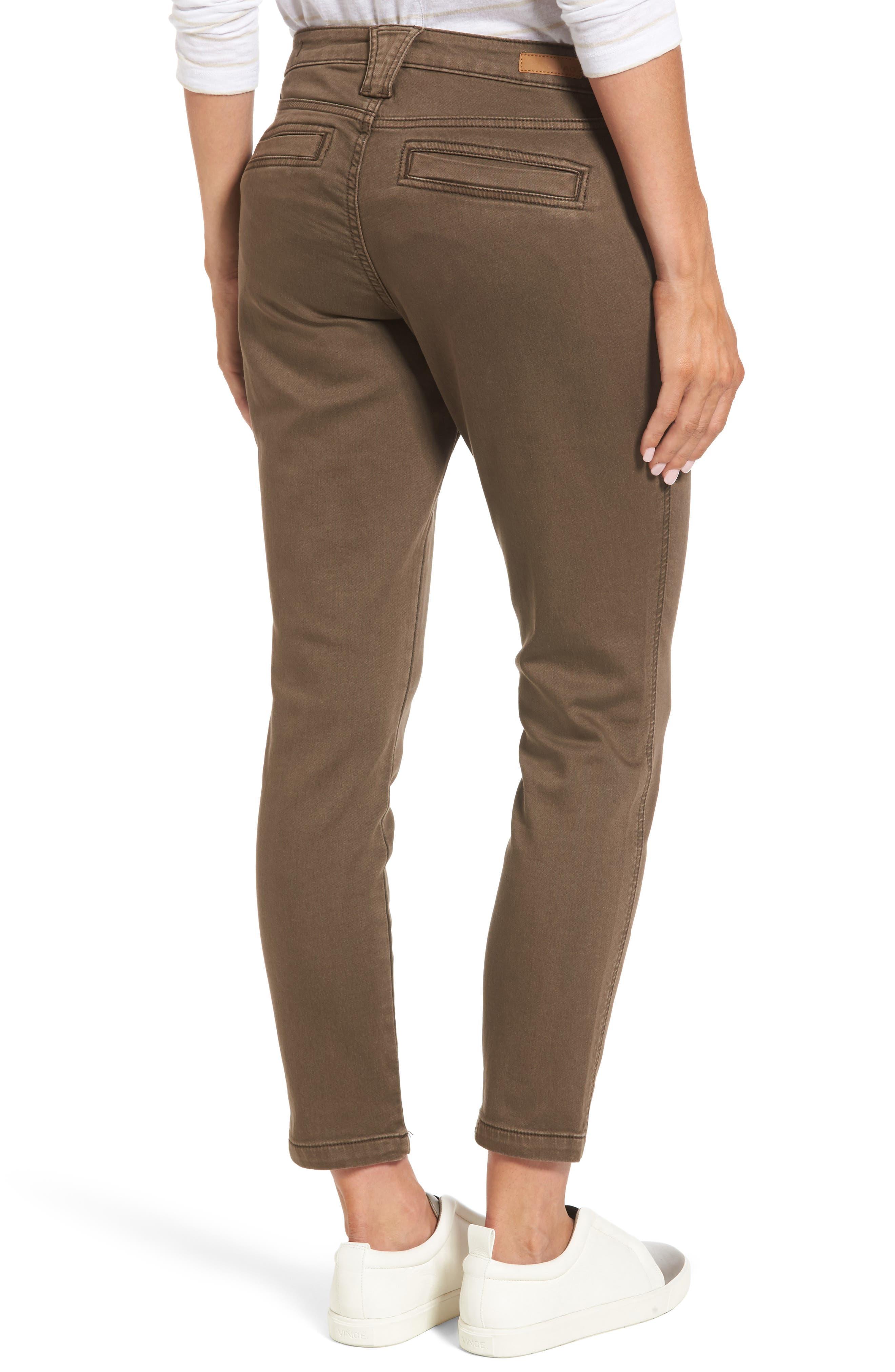 Ryan Knit Skinny Jeans,                             Alternate thumbnail 2, color,                             Saddle