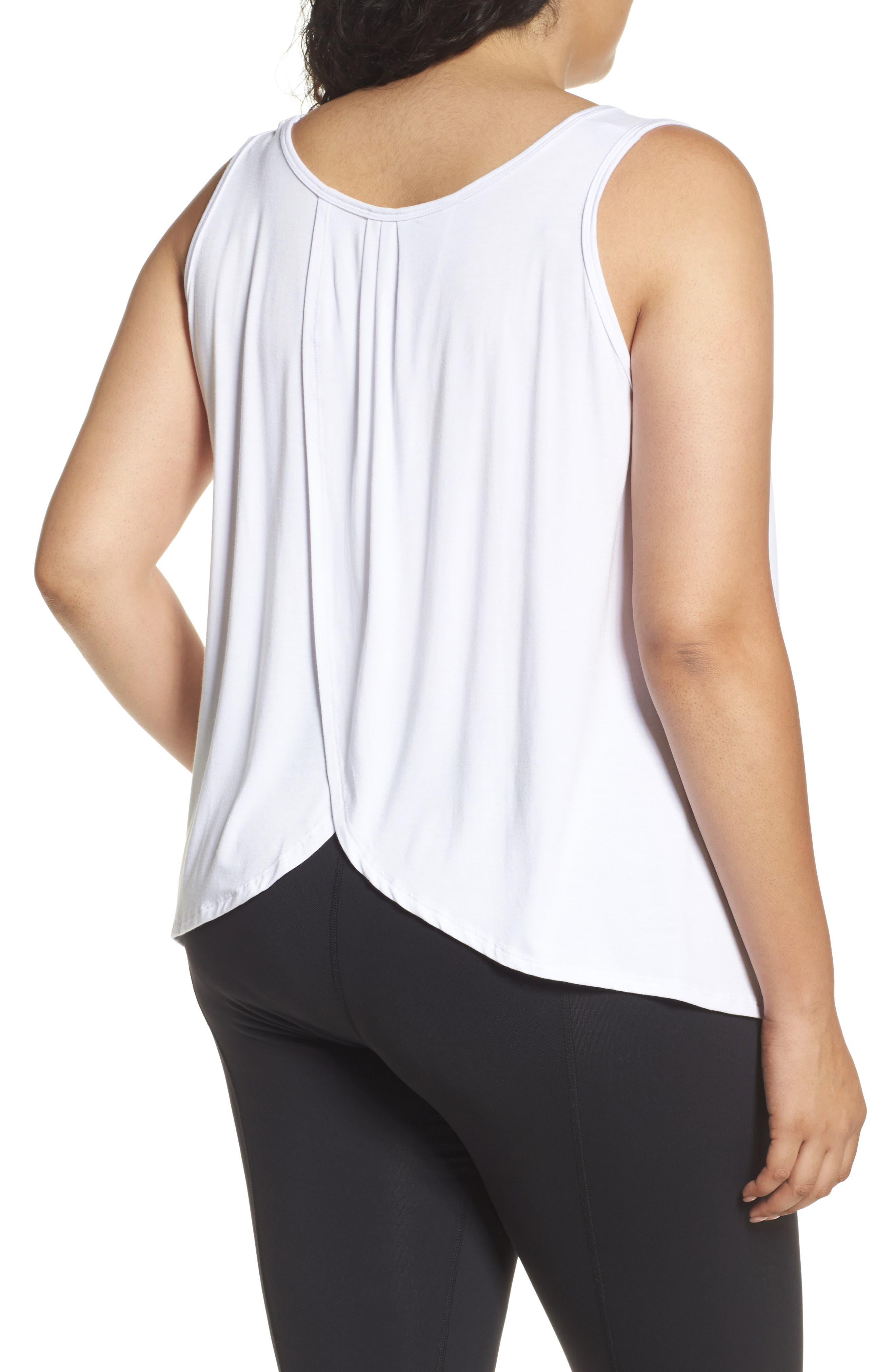 Flutter Back Tank,                             Alternate thumbnail 2, color,                             White