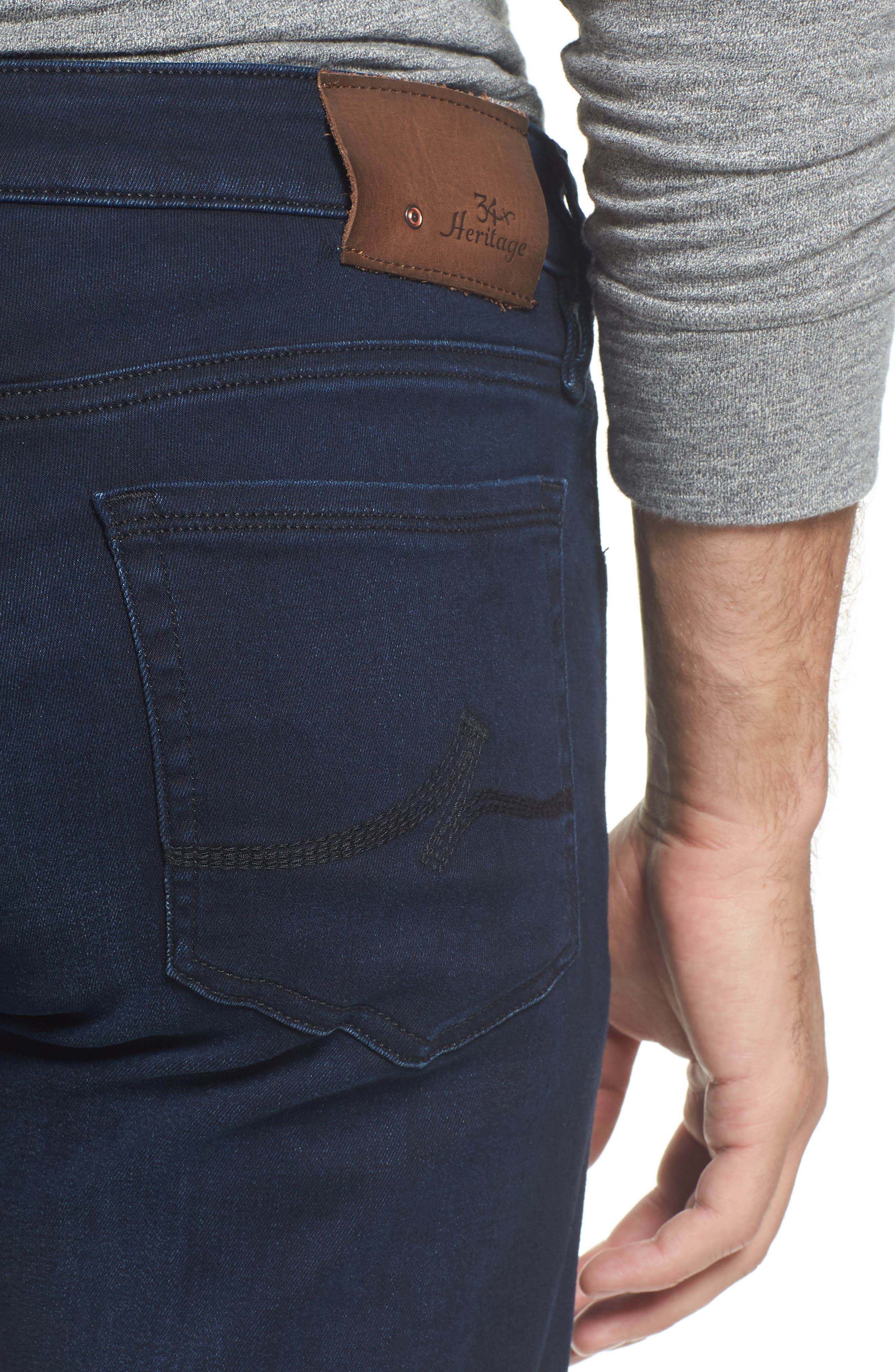 Courage Straight Fit Jeans,                             Alternate thumbnail 4, color,                             Ink Rome