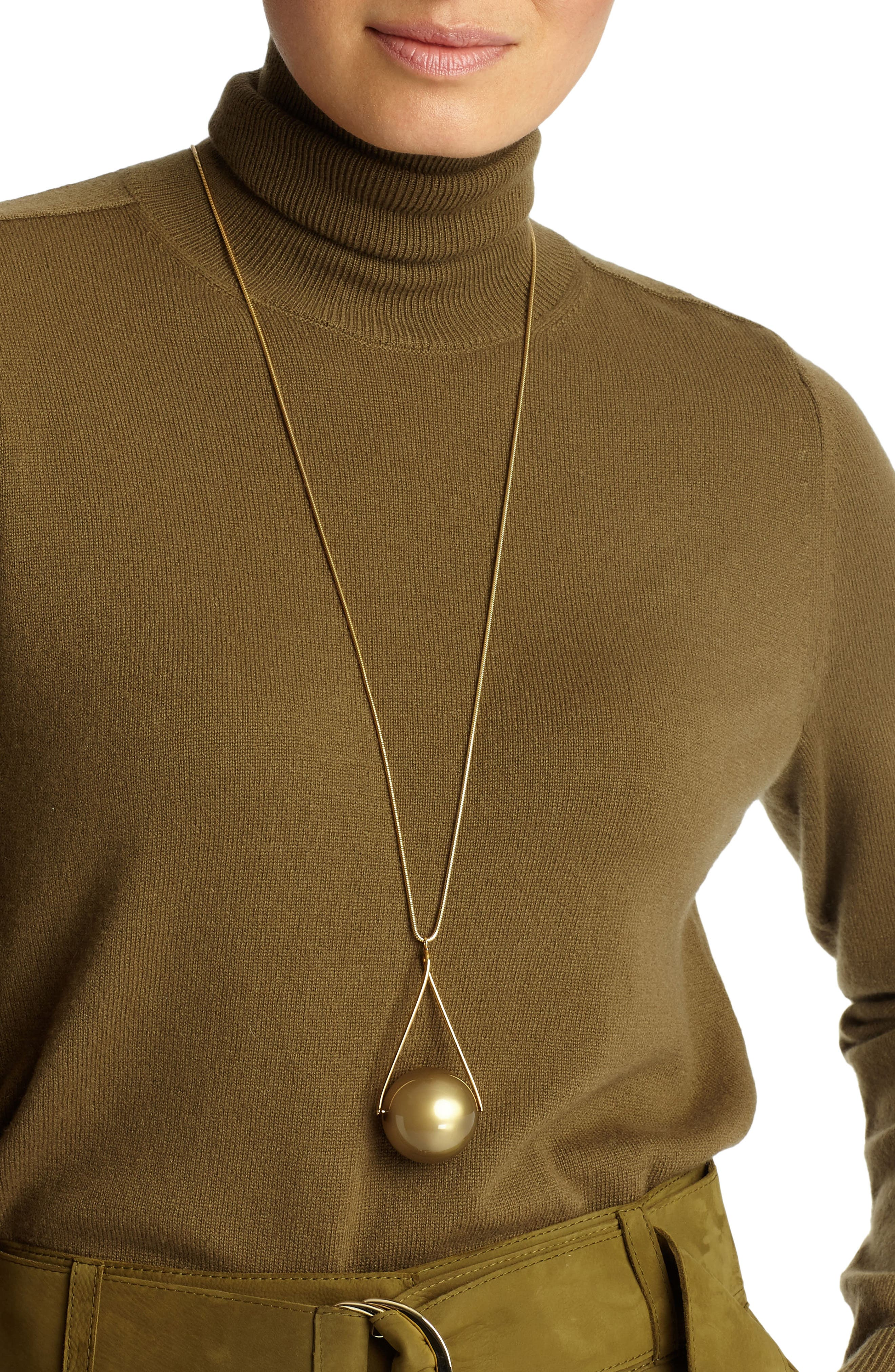 Alternate Image 2  - Lafayette 148 New York Single Orb Necklace