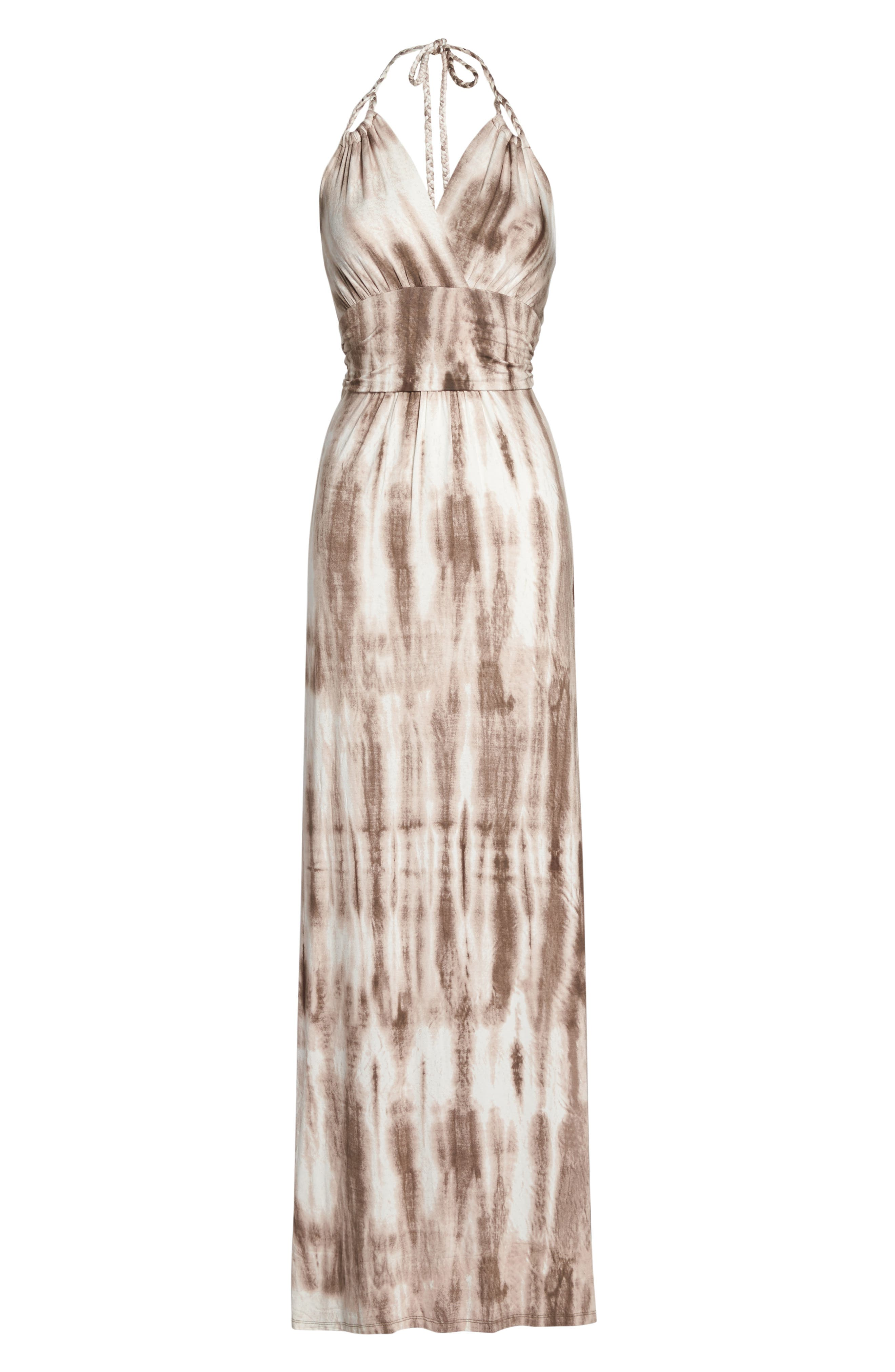 Felicity & Coco Tie Dye Jersey Halter Maxi Dress (Nordstrom Exclusive)
