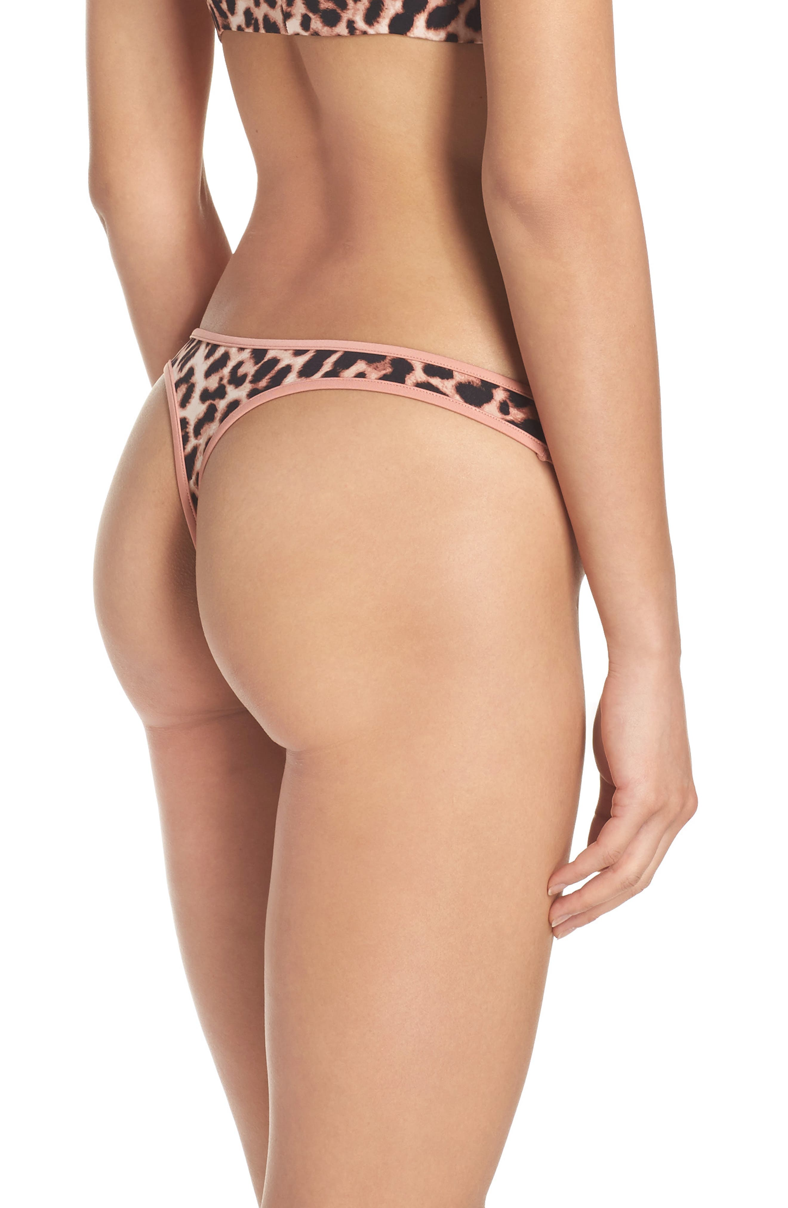 Penelope Thong,                             Alternate thumbnail 2, color,                             Leopard Print