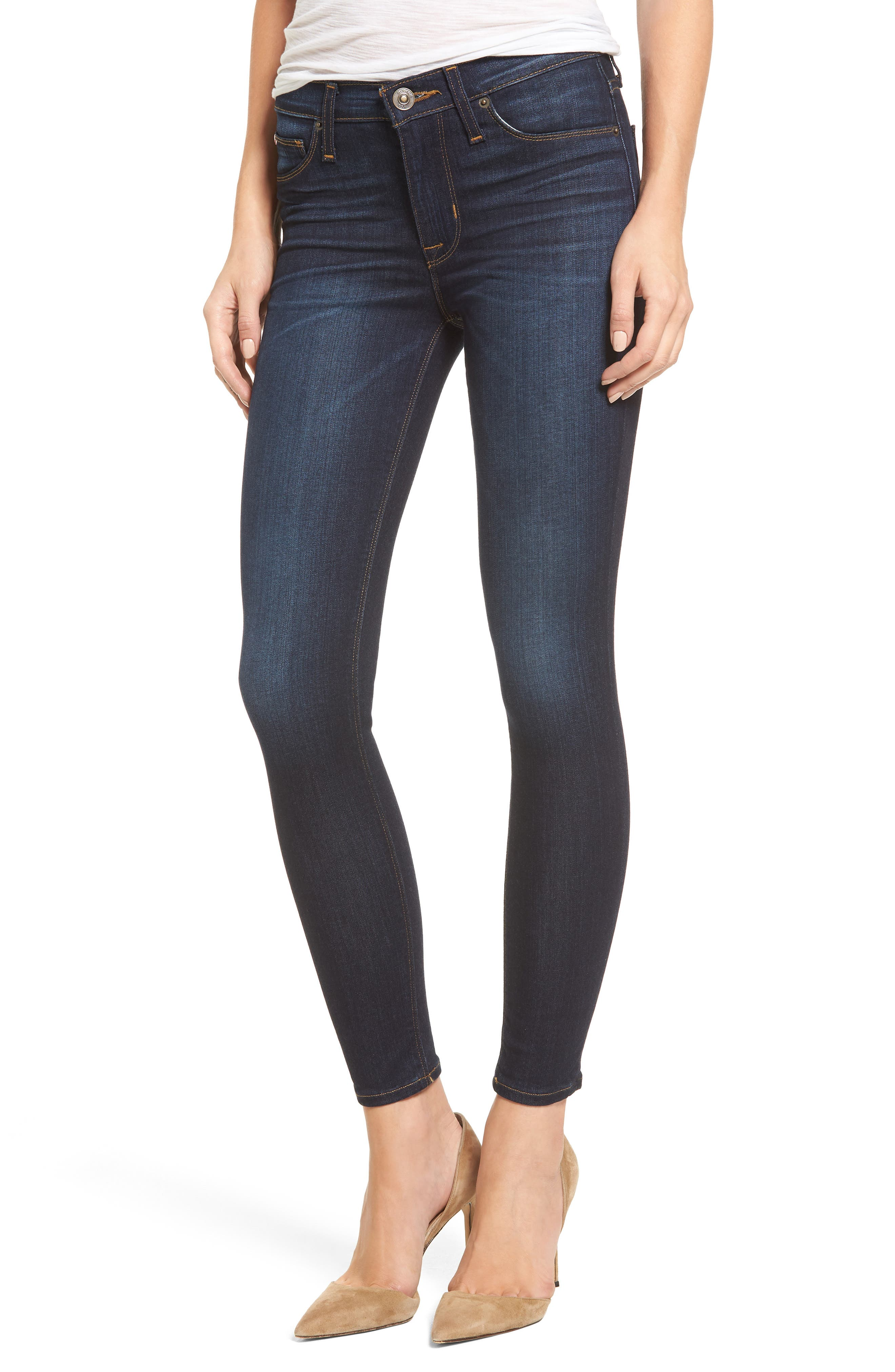 Alternate Image 1 Selected - Hudson Jeans 'Nico' Ankle Super Skinny Jeans (Electrify)