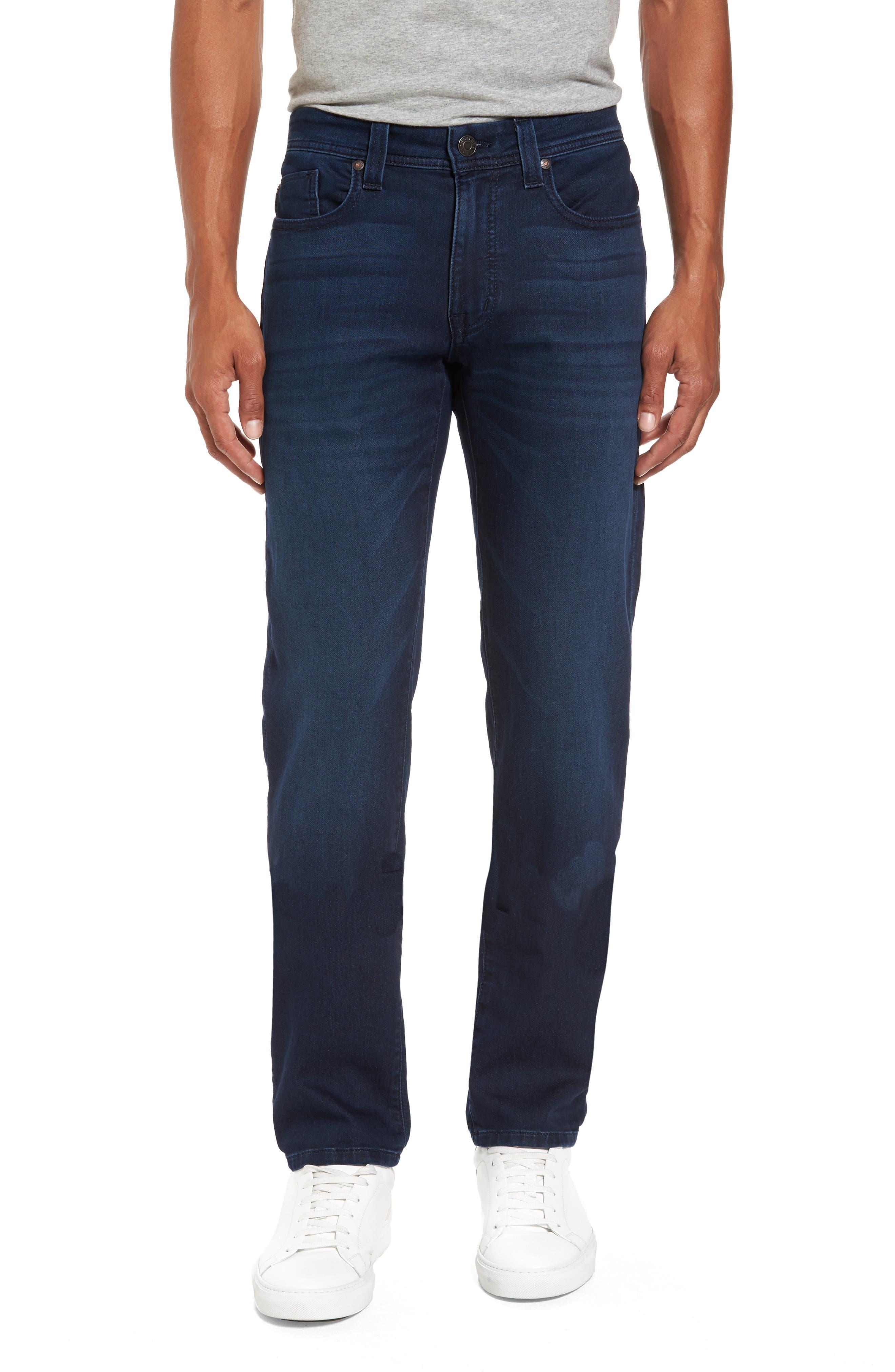 Fidelity Denim Jimmy Slim Straight Leg Jeans (Lemmy Blue)