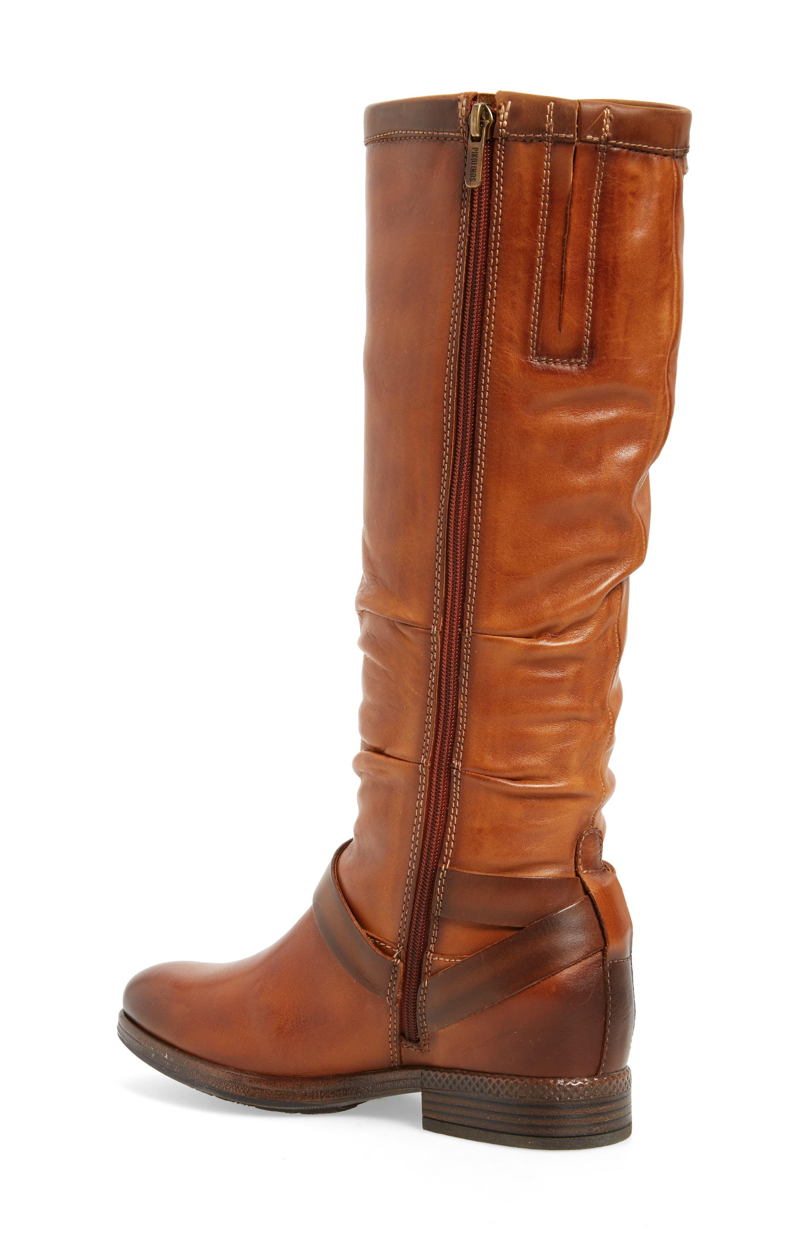 Ordino Knee High Boot,                             Alternate thumbnail 2, color,                             Brandy Cuero Leather
