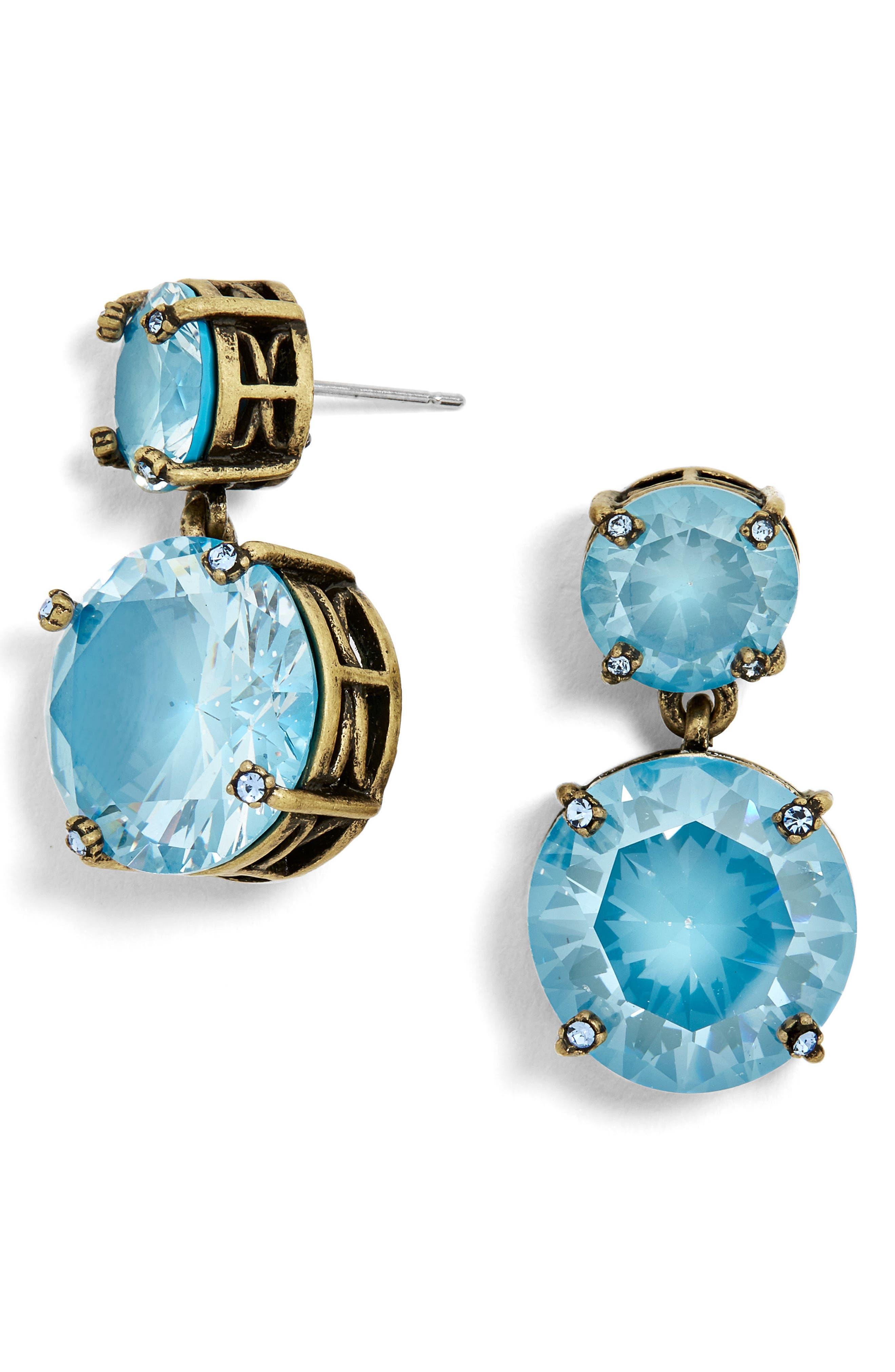 Petite Stud Earrings,                         Main,                         color, Blue