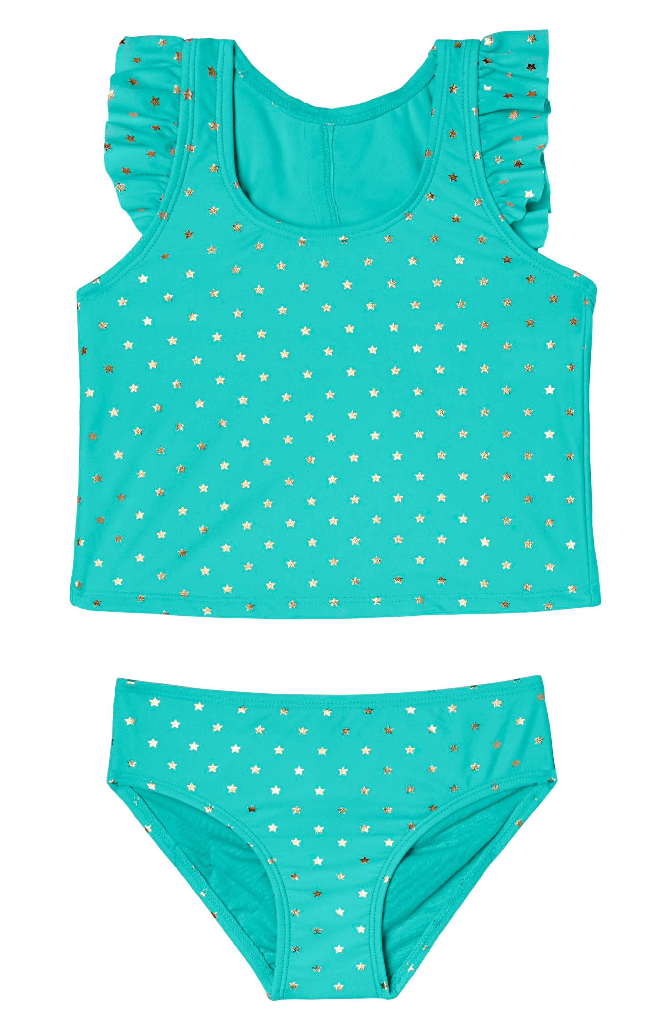 Hula Star Twinkle Star Two-Piece Tankini Swimsuit (Toddler Girls & Little Girls)