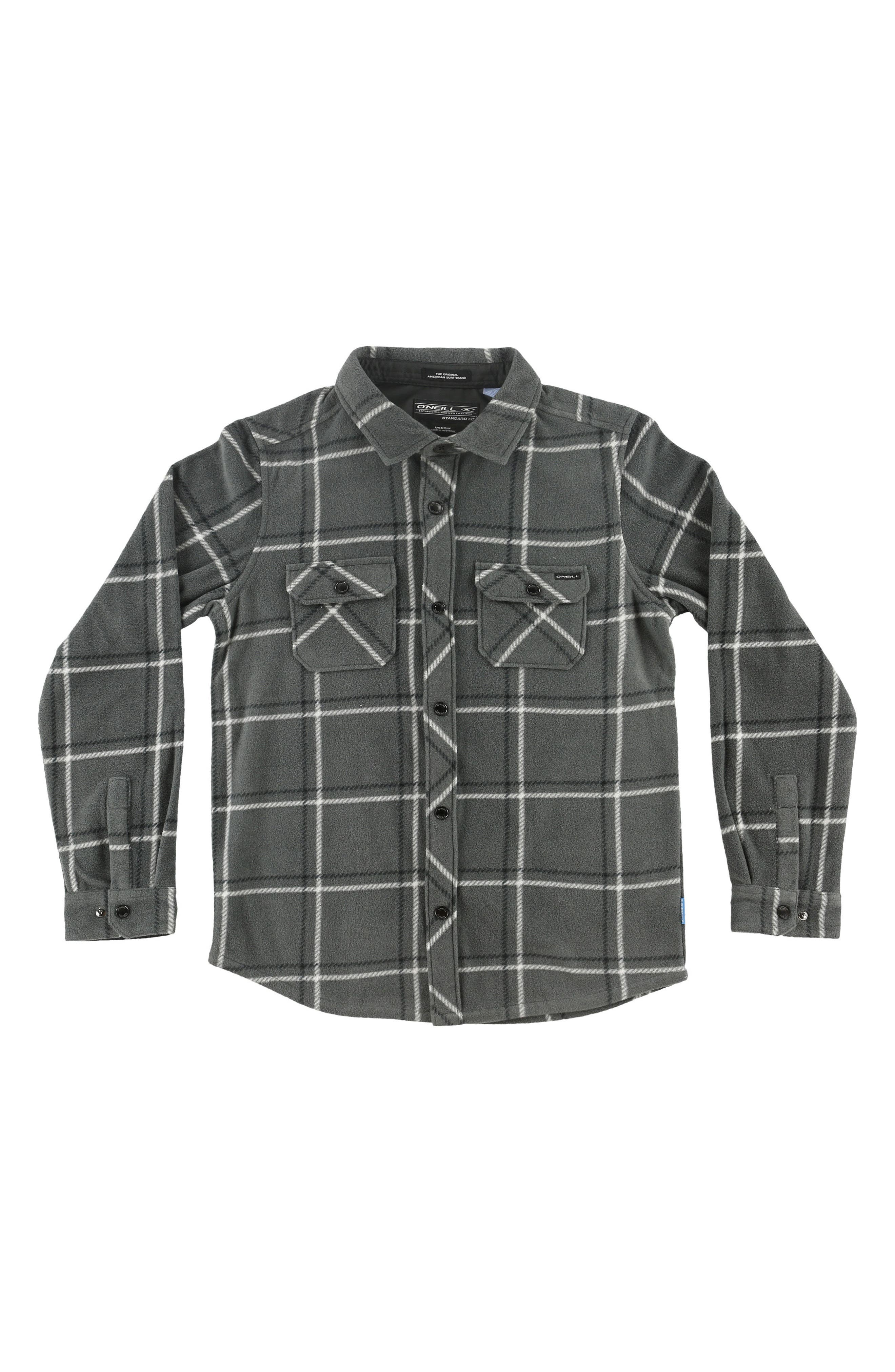 Alternate Image 1 Selected - O'Neill Glacier Series Two Plush Windowpane Shirt (Toddler Boys)