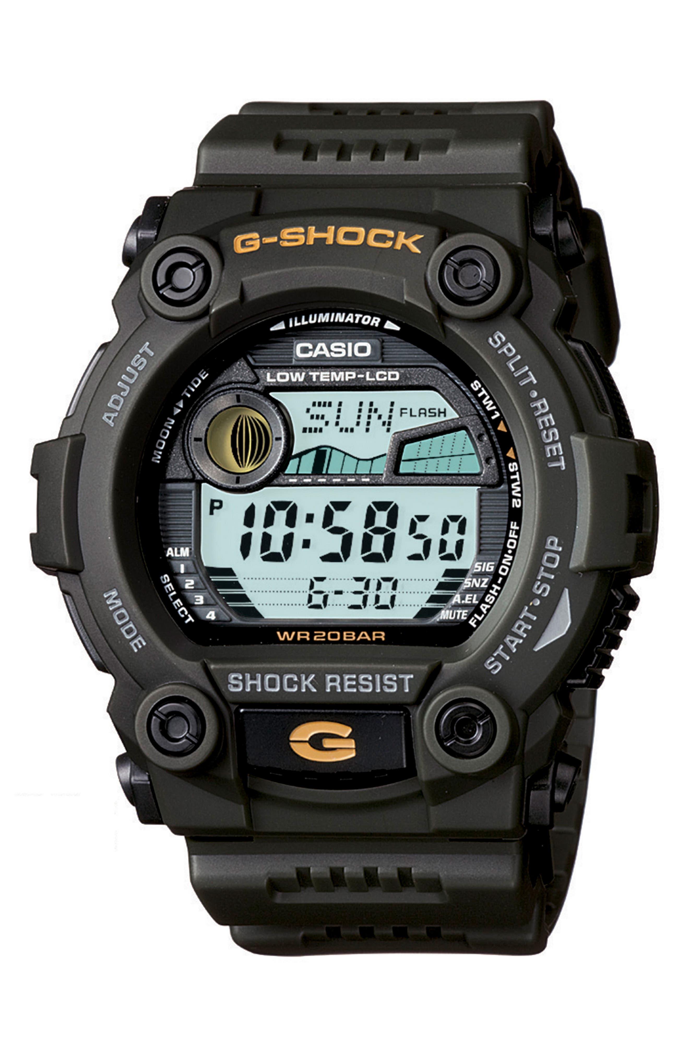 G-Shock Baby-G Digital Tide Resin Watch, 50mm