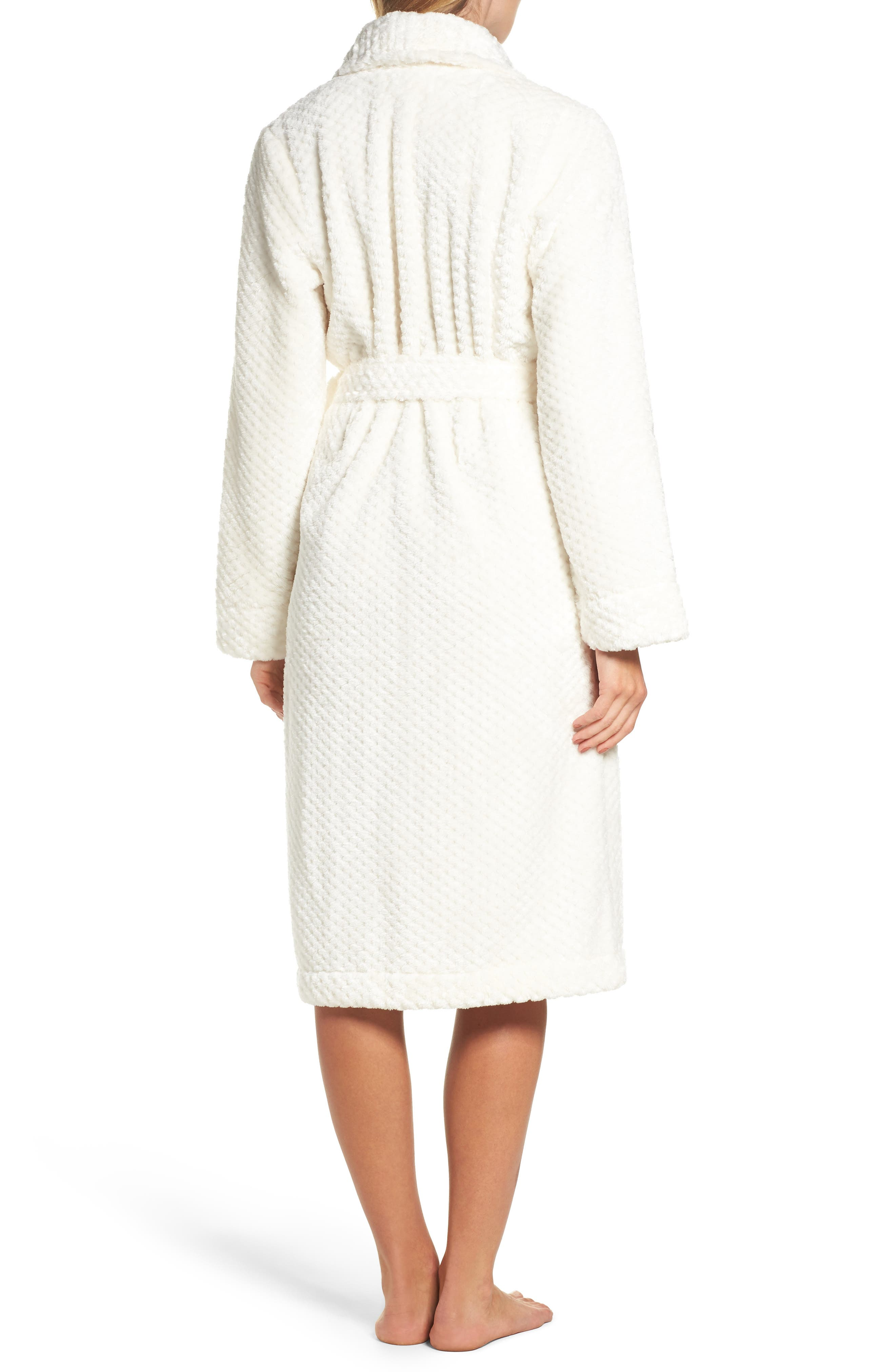 Nordstrom So Soft Plush Robe,                             Alternate thumbnail 2, color,                             Ivory Egret