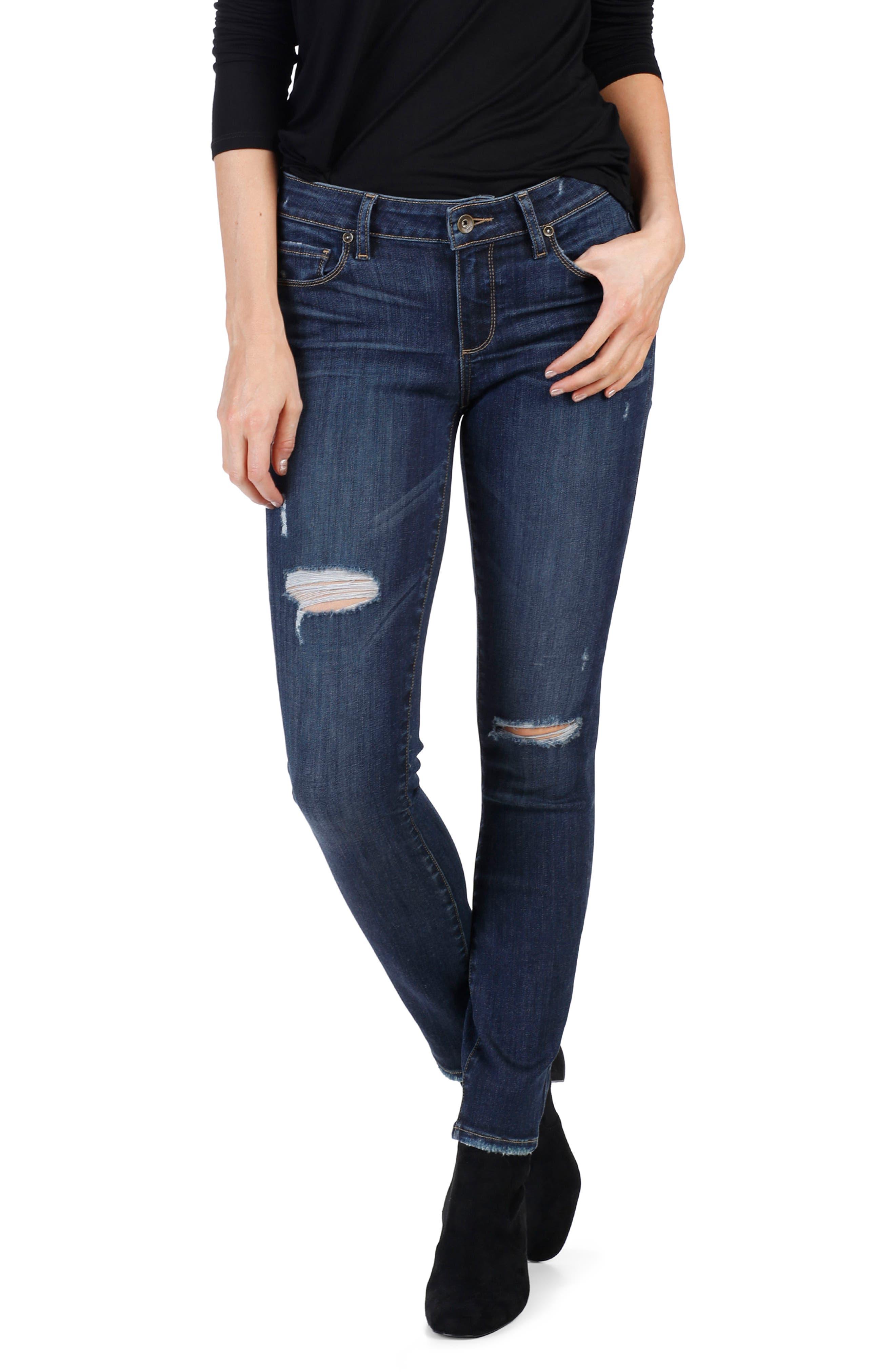 Alternate Image 1 Selected - PAIGE Transcend Vintage - Verdugo Ultra Skinny Jeans (Clearly Destructed)