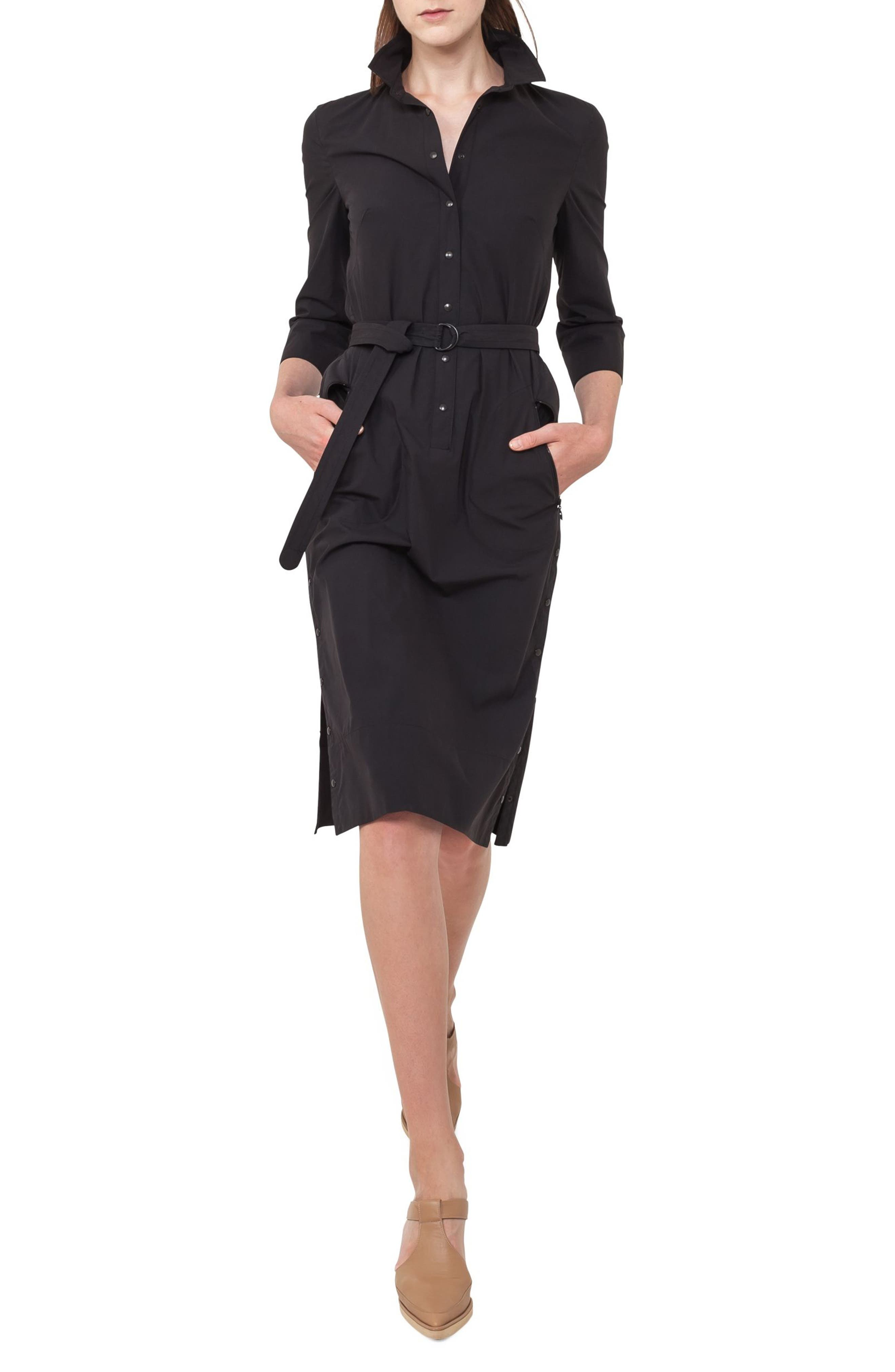 Alternate Image 1 Selected - Akris punto Cotton Shirtdress