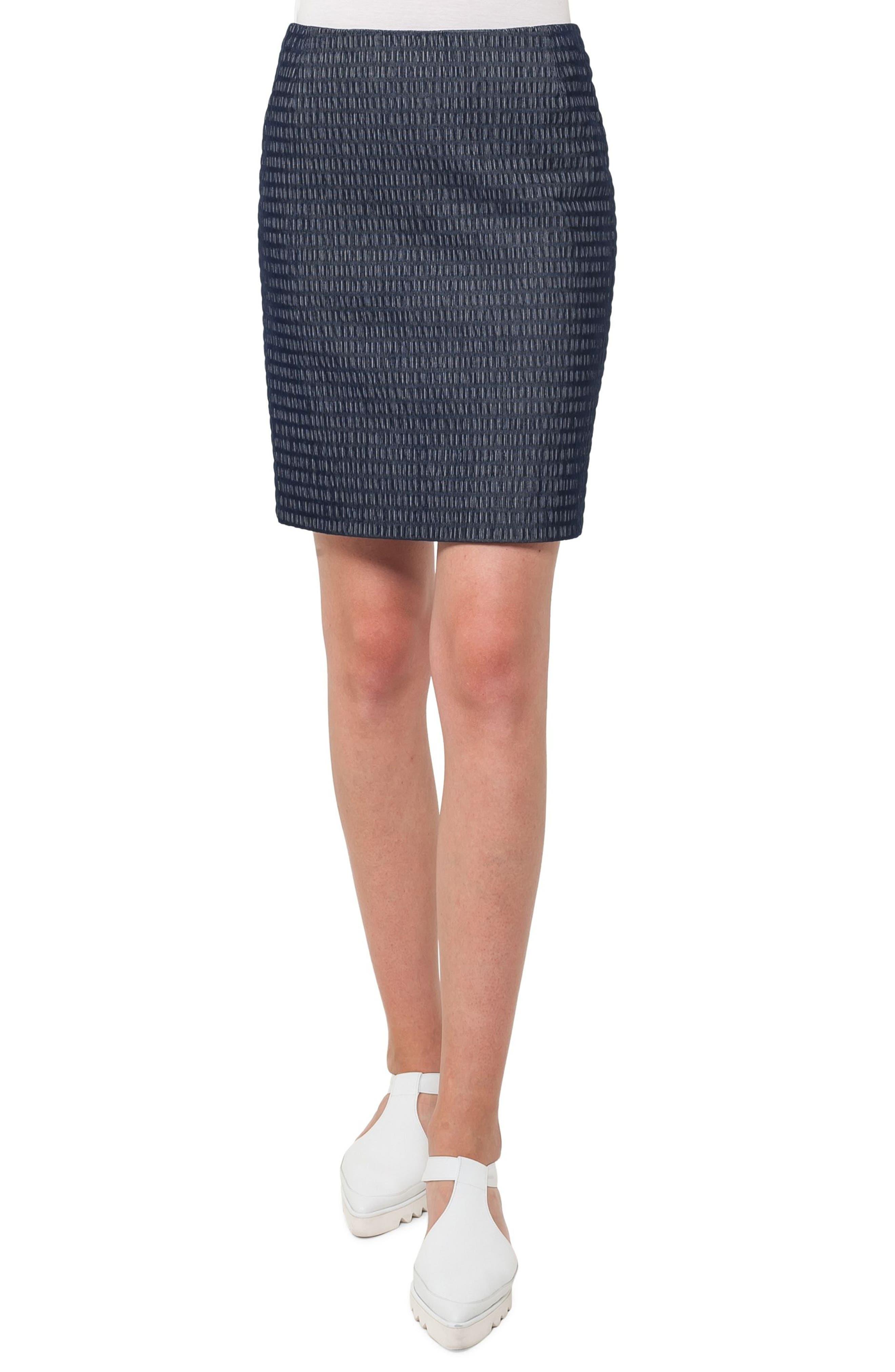 Fantasy Corduroy Jacquard Miniskirt,                         Main,                         color, Indigo/ Cream