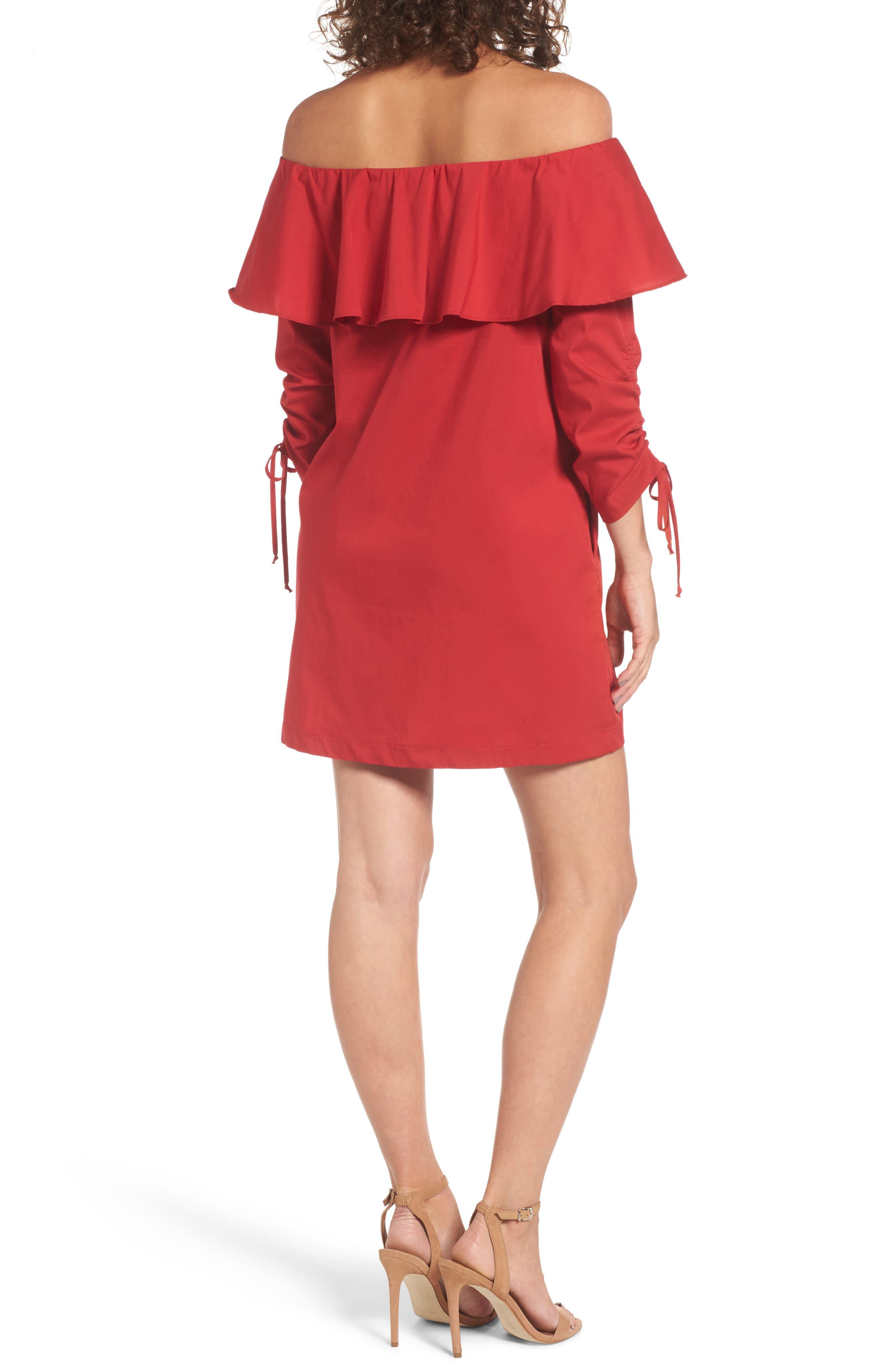 Alternate Image 2  - Socialite Cinch Sleeve Off the Shoulder Dress