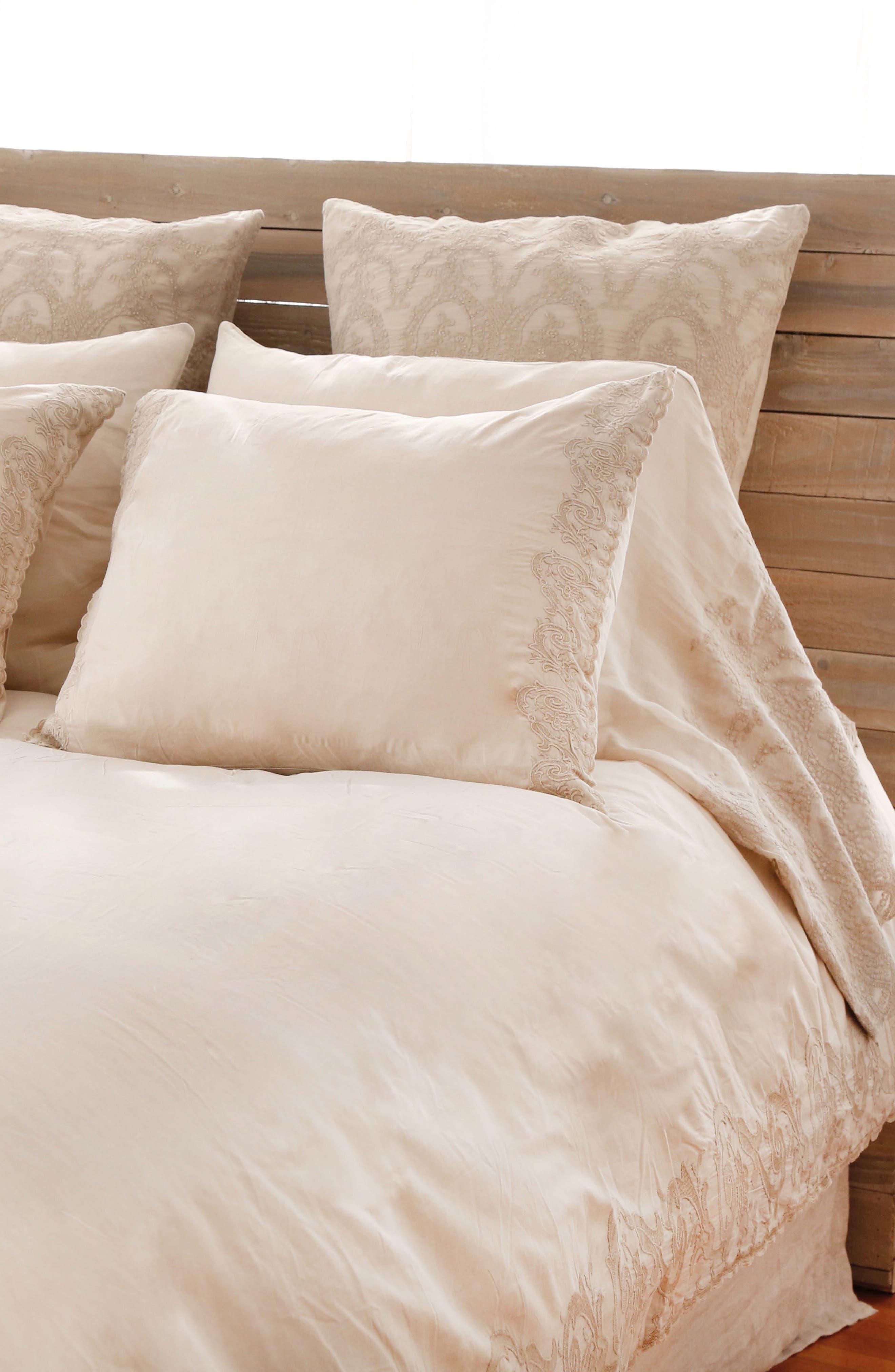 Grace Pillowcases,                             Main thumbnail 1, color,                             Taupe