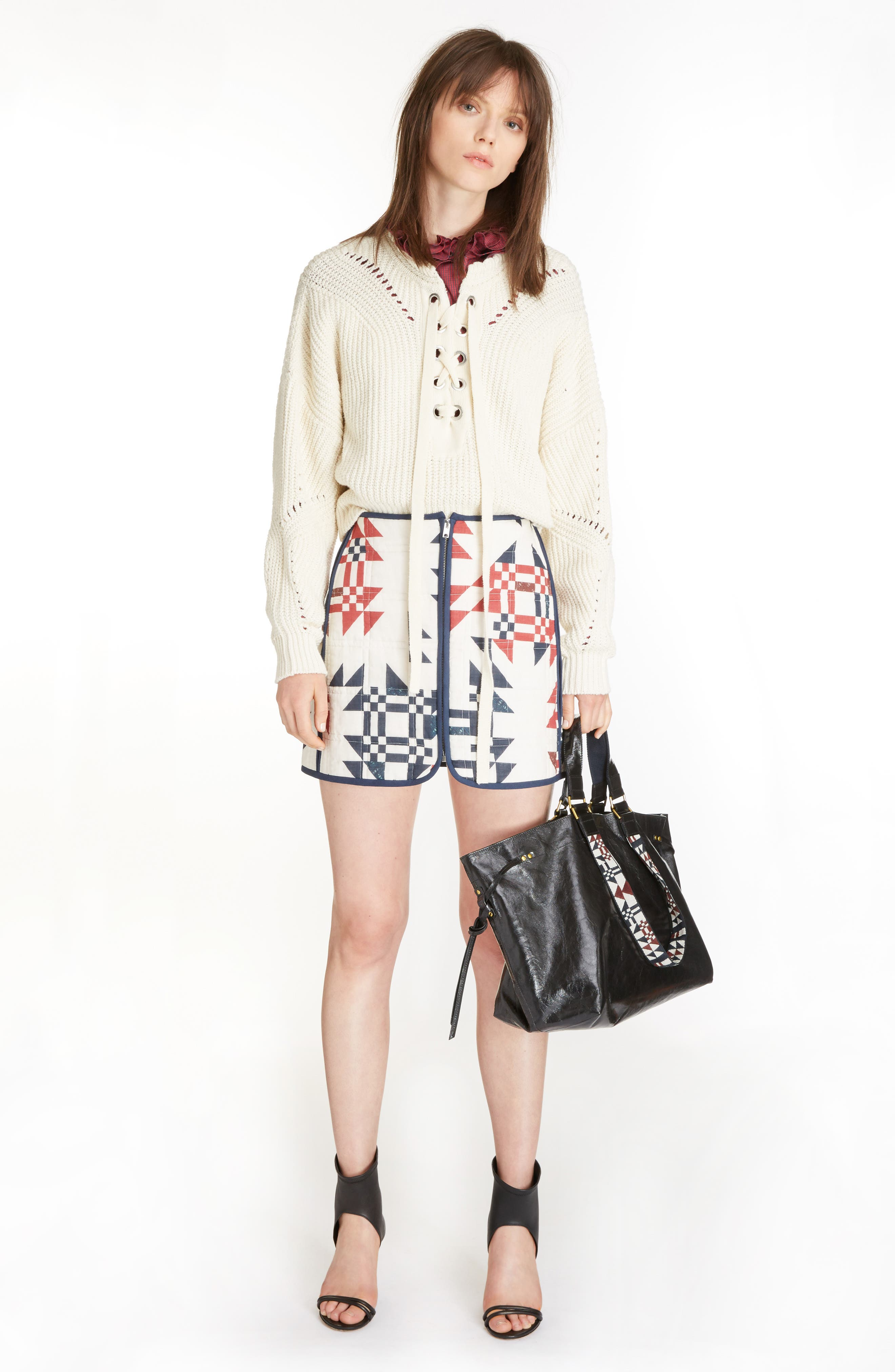 Laley Cotton & Wool Blend Sweater,                             Alternate thumbnail 7, color,                             Ecru